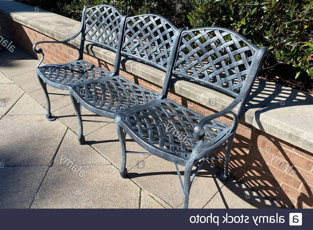 Strasburg Blossoming Decorative Iron Garden Benches Inside Popular Page 2 – Public Garden Bench High Resolution Stock (View 13 of 30)