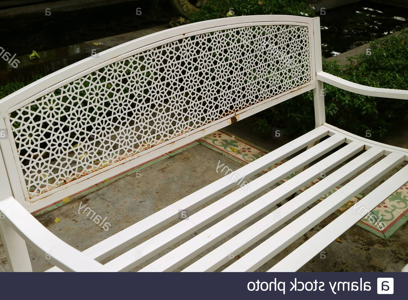 Strasburg Blossoming Decorative Iron Garden Benches Pertaining To Latest Page 2 – Public Garden Bench High Resolution Stock (View 14 of 30)