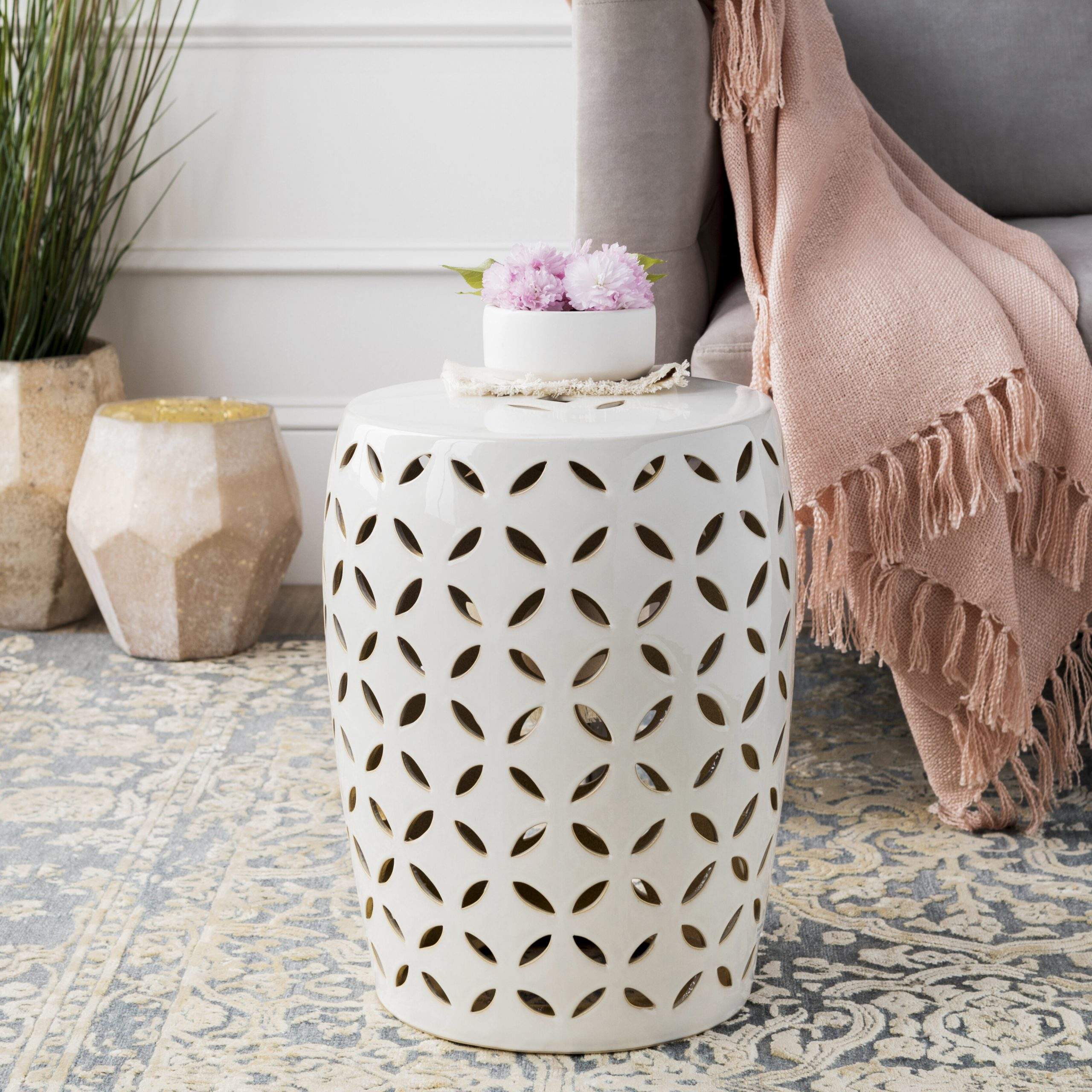 Svendsen Ceramic Garden Stools Throughout Current Hermione Accent Stool (View 11 of 30)