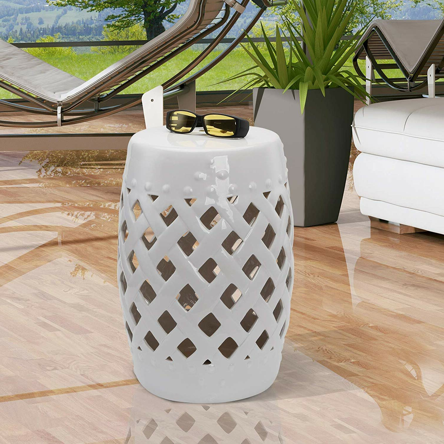 Tillia Ceramic Garden Stool For Most Recently Released Harwich Ceramic Garden Stools (View 6 of 30)