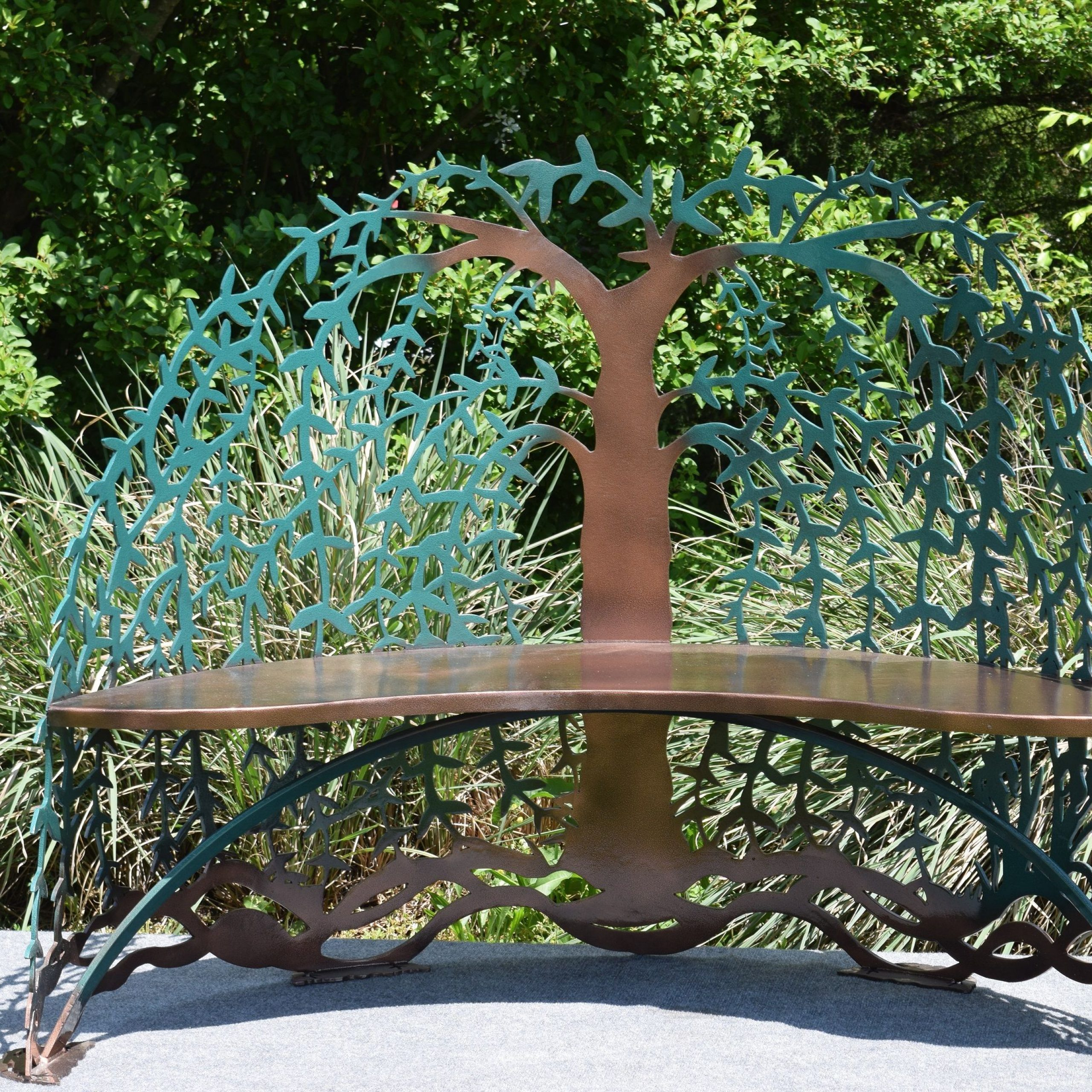 Tree Of Life Iron Garden Benches For Favorite Buy Custom Made Tree Of Life Garden Steel Metal Bench, Made (View 4 of 30)