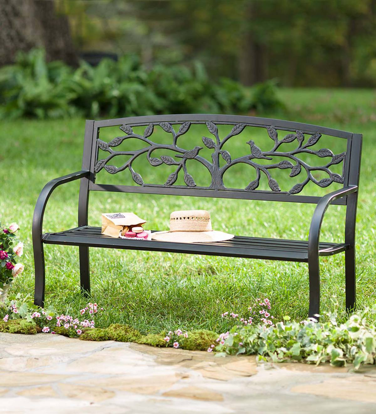 Featured Photo of Tree Of Life Iron Garden Benches