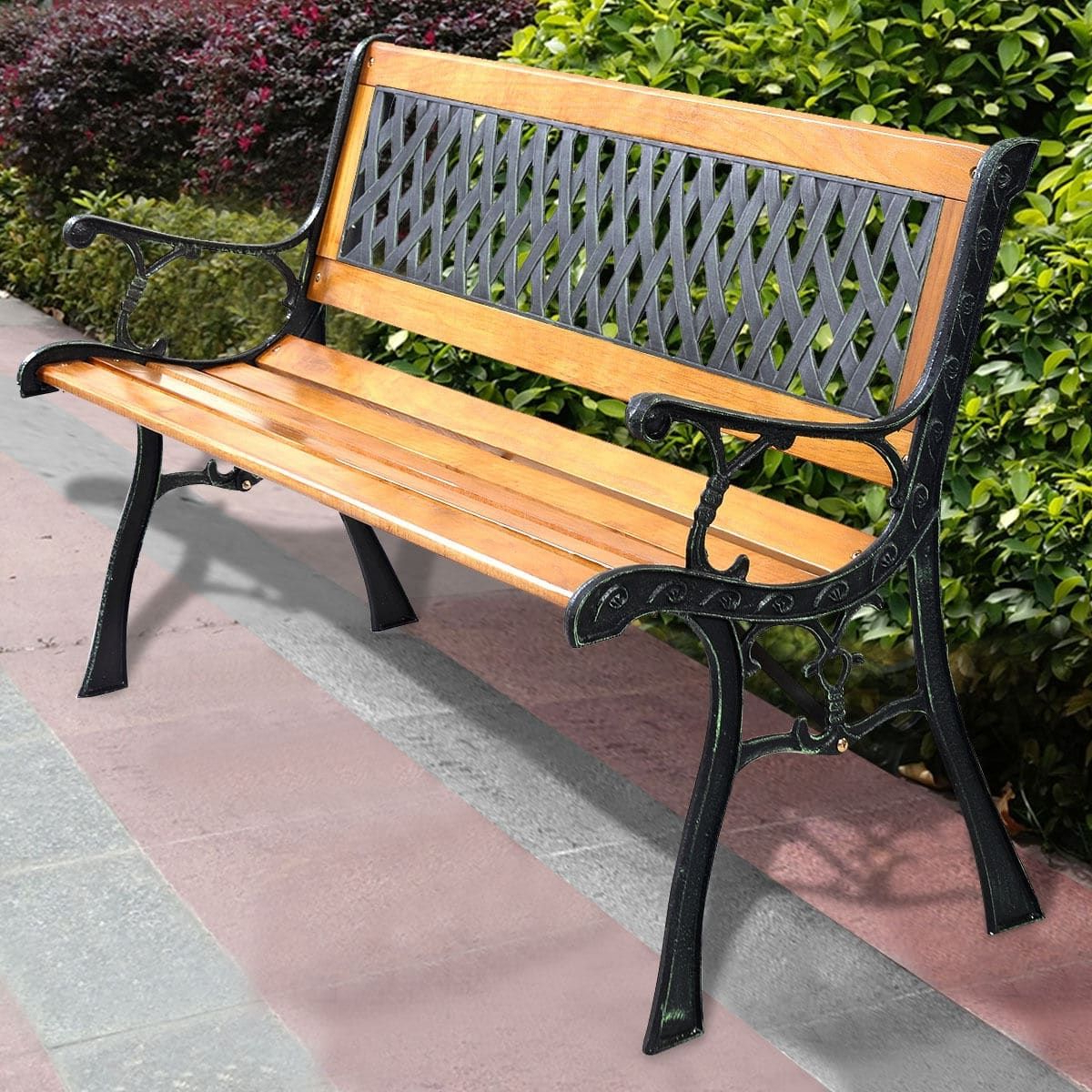 Trendy Caryn Colored Butterflies Metal Garden Benches With Overstock: Online Shopping – Bedding, Furniture (View 15 of 30)