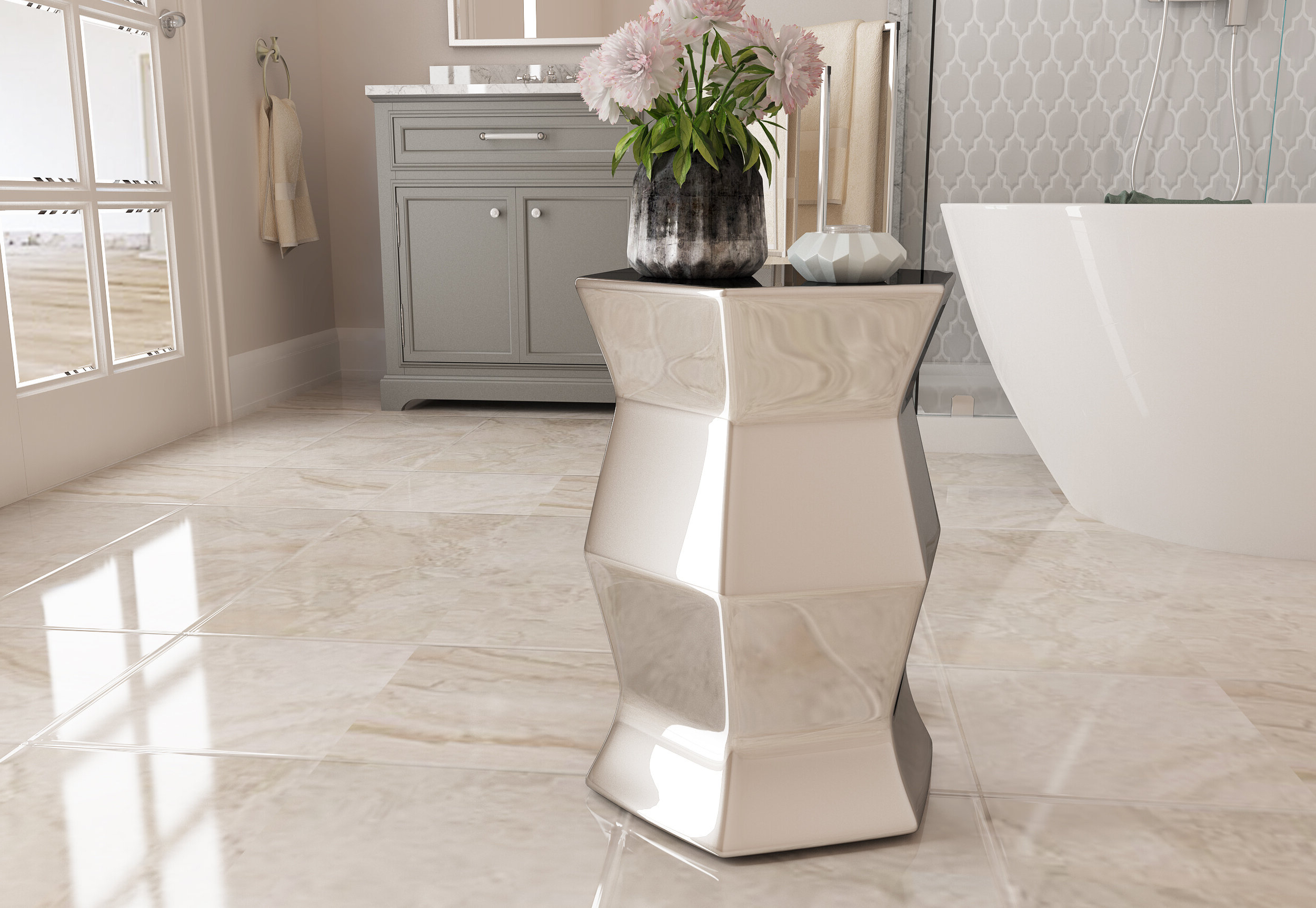 Trendy Cyra Hexagon Ceramic Garden Stool Intended For Karlov Ceramic Garden Stools (View 17 of 30)