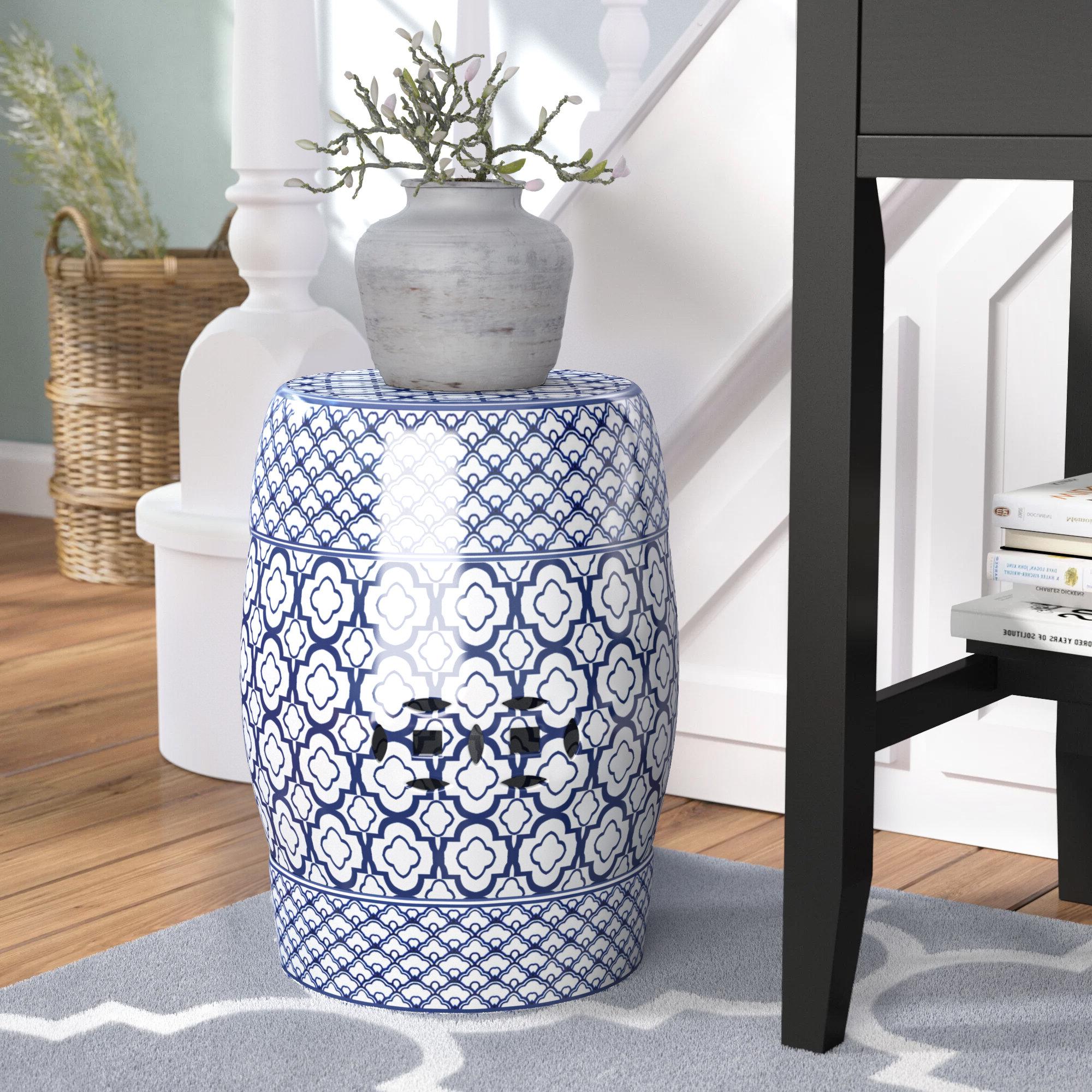 Trendy Feliciana Ceramic Garden Stools Pertaining To Blue Ceramic Garden Stools You'll Love In (View 19 of 30)