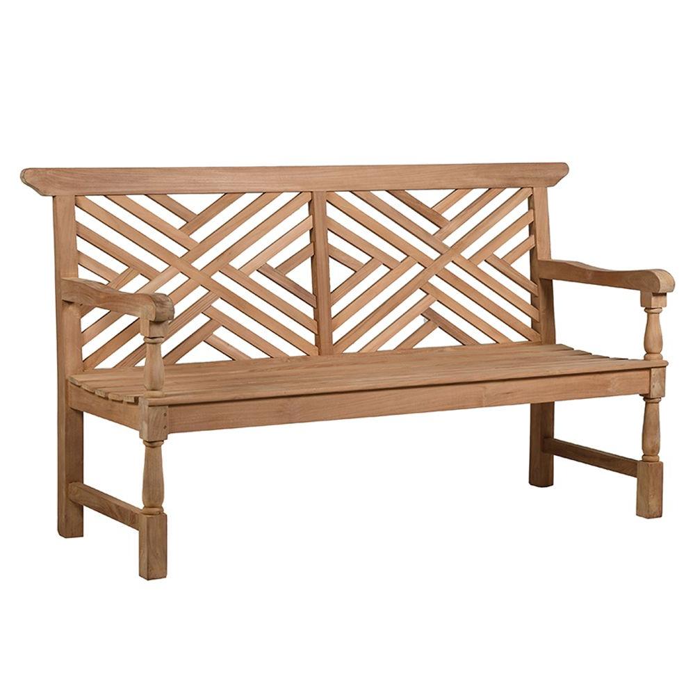 Trendy Liara Garden Bench For Hampstead Teak Garden Benches (View 17 of 30)