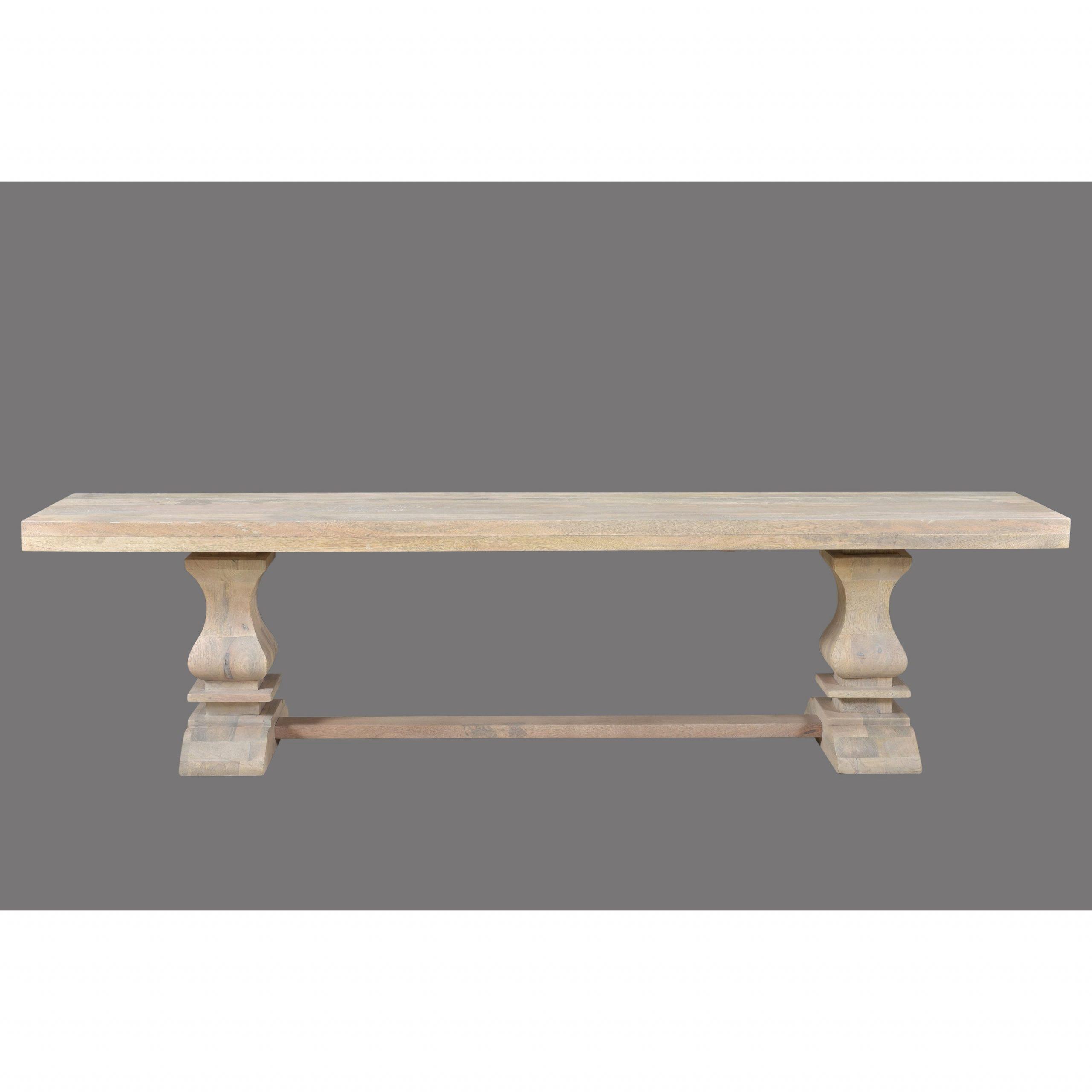 Trendy Maliyah Wooden Garden Benches Regarding Maliyah Pedestal Wood Bench – 18'' H X 72'' W X 15'' D (View 11 of 30)