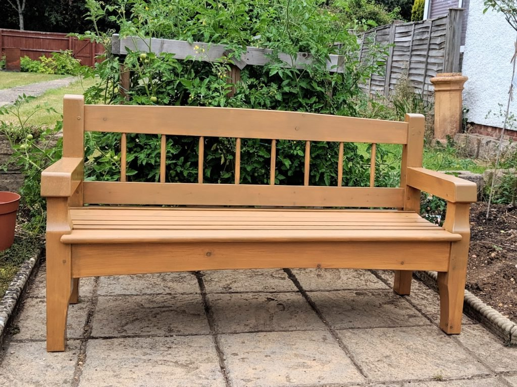 Trendy The Bench In My Garden – Paul Sellers' Blog Within Pauls Steel Garden Benches (View 3 of 30)