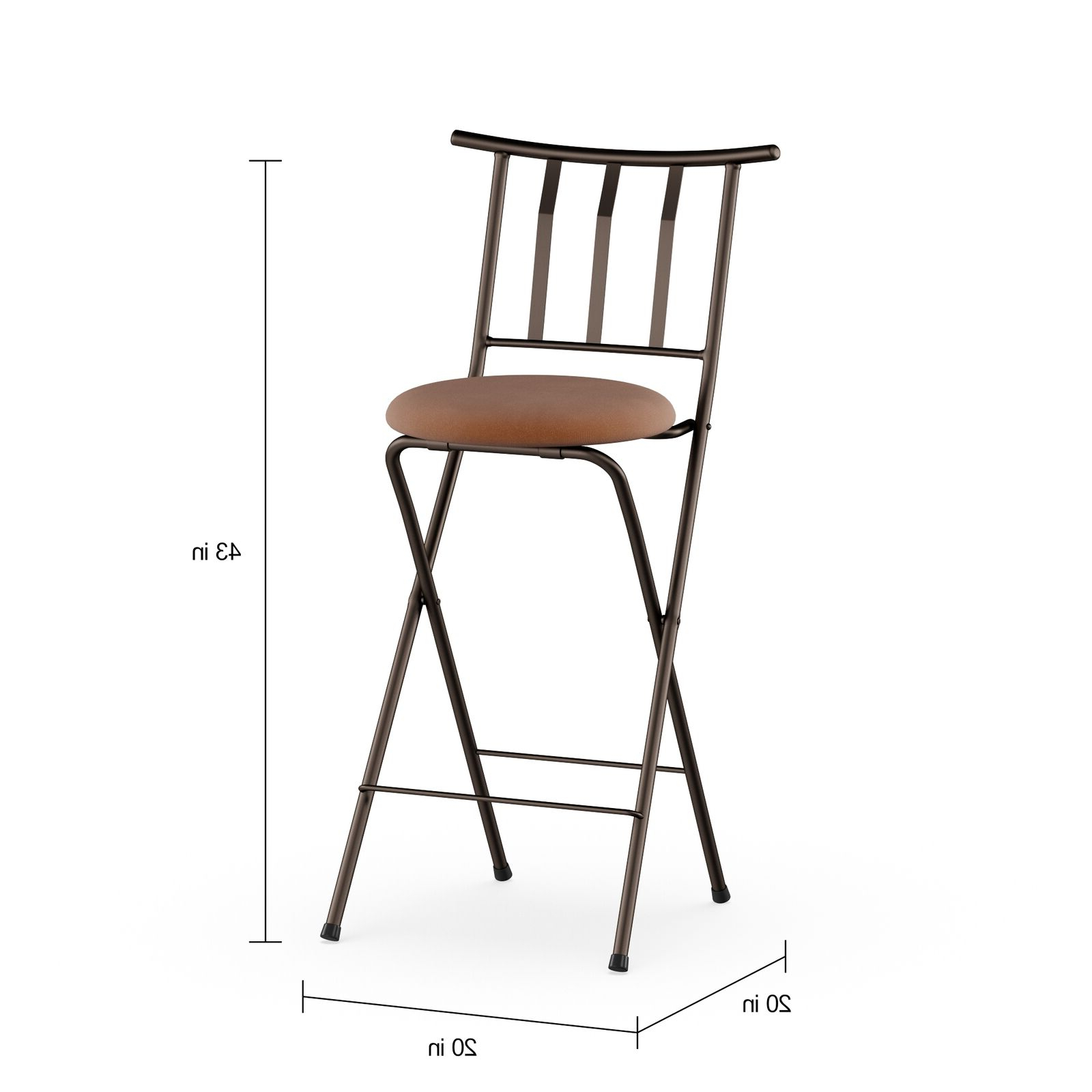 "Trendy Tillia Ceramic Garden Stools Inside Mainstays Slat Back Folding 30"" Bronze Bar Stool Multiple Colors (View 17 of 30)"