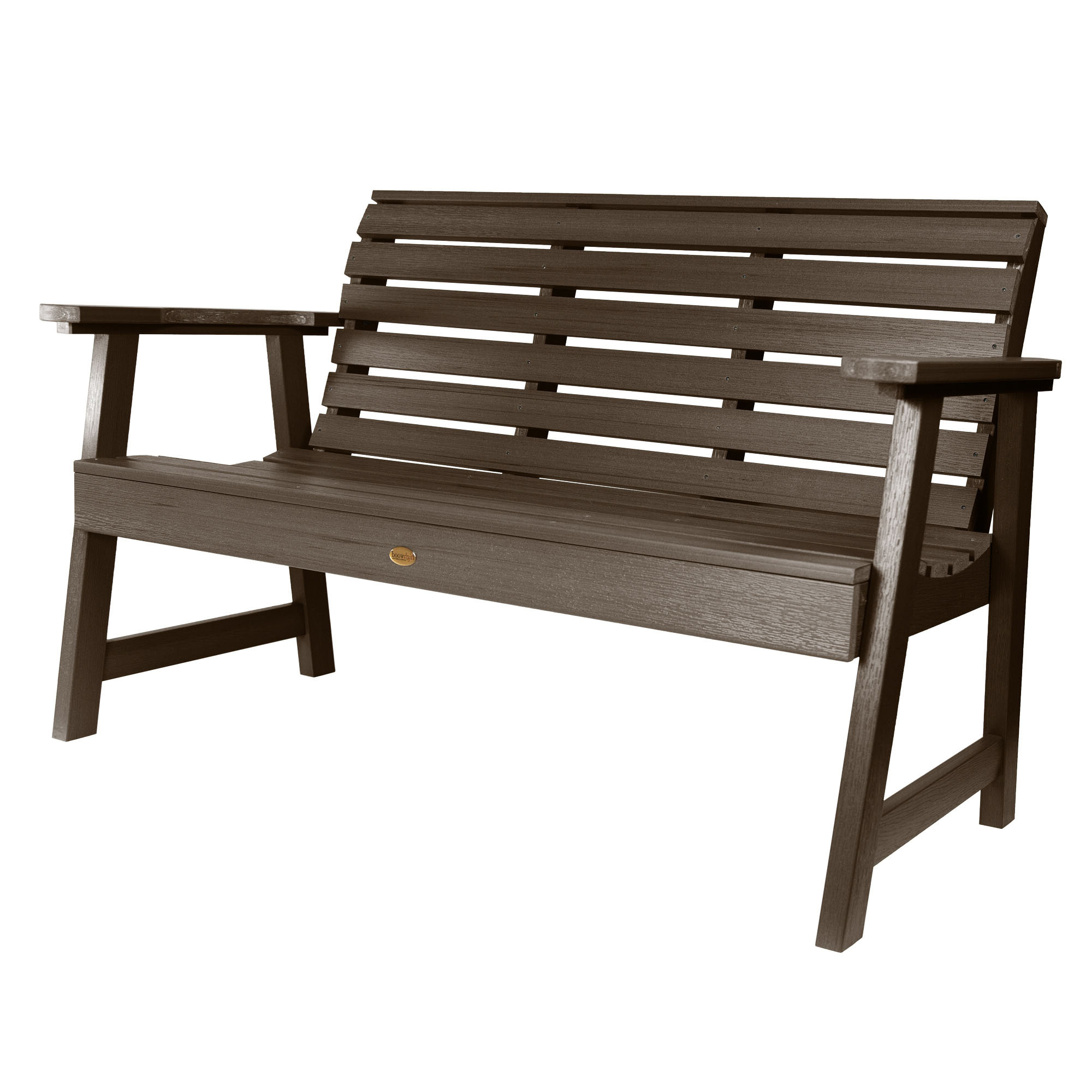 Trigg Synthetic Plastic Garden Bench Intended For 2019 Gehlert Traditional Patio Iron Garden Benches (View 25 of 30)