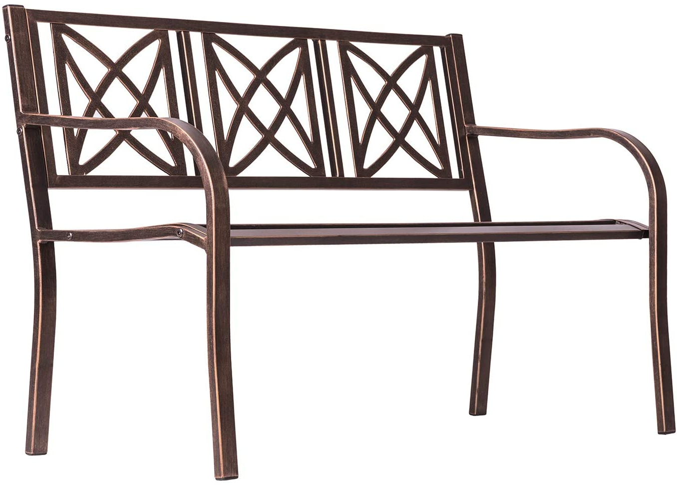 Vifah Paracelsus 4 Foot Metal Garden Bench (bronze): Amazon Throughout 2020 Blooming Iron Garden Benches (View 25 of 30)