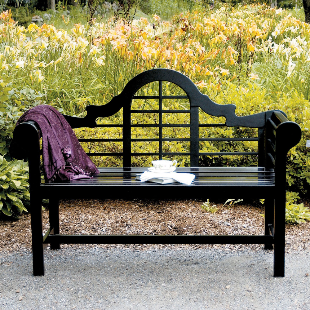 Wallie Teak Garden Benches Inside Favorite Achla Designs Lutyens 54 In (View 16 of 30)
