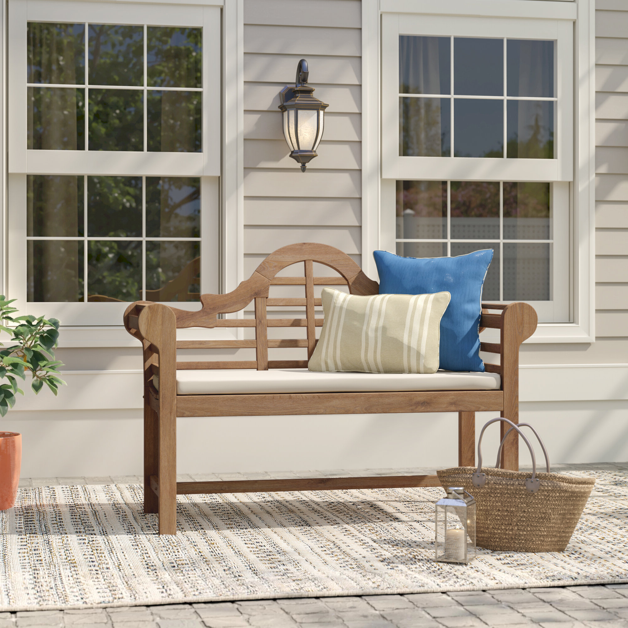 Featured Photo of Wallie Teak Garden Benches