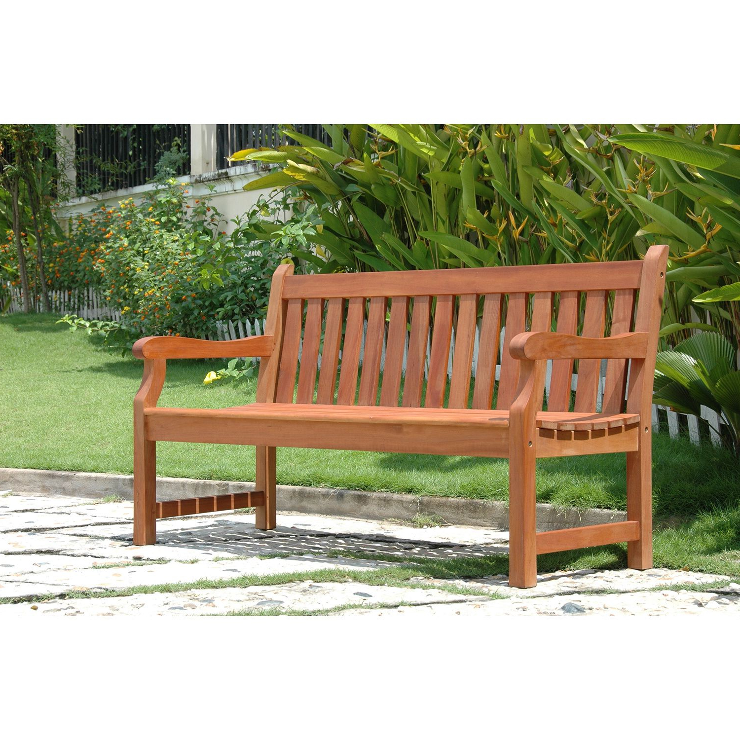 Wallie Teak Garden Benches Intended For Popular Overstock: Online Shopping – Bedding, Furniture (View 14 of 30)