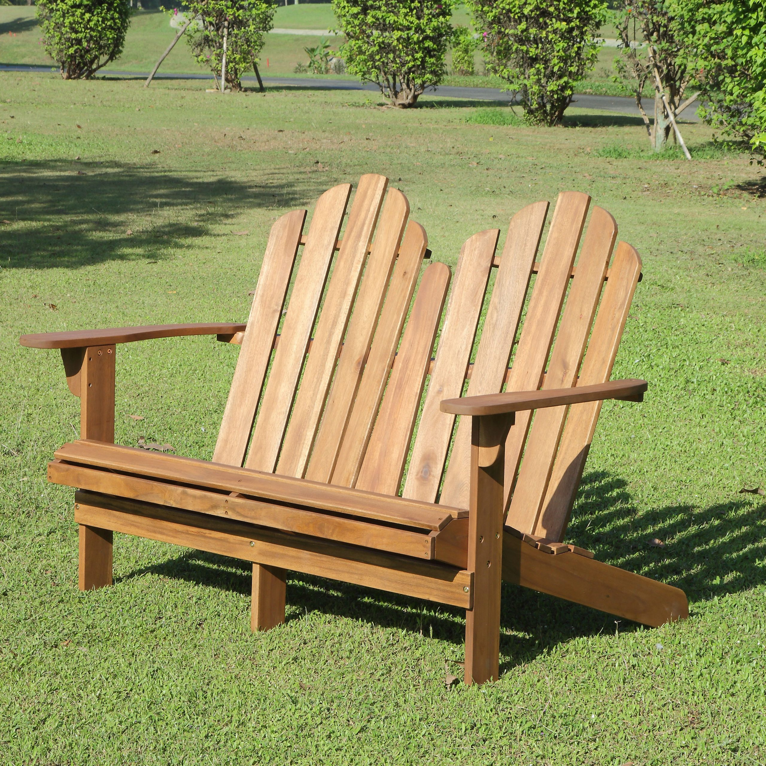Wallie Teak Garden Benches Throughout 2019 Selkirk Wooden Garden Bench (View 19 of 30)