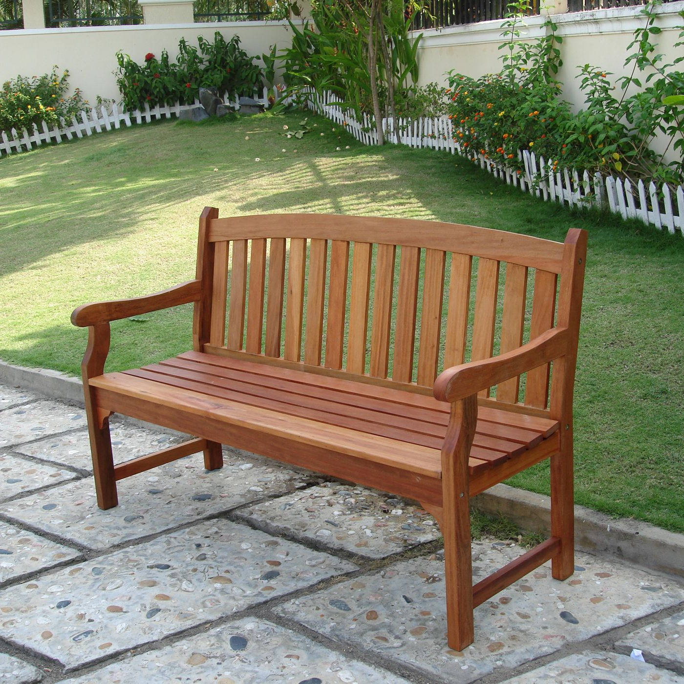 Wallie Teak Garden Benches Throughout Recent Vifah V275 Marley Two Seater Bench – Outdoor Living Showroom (View 10 of 30)
