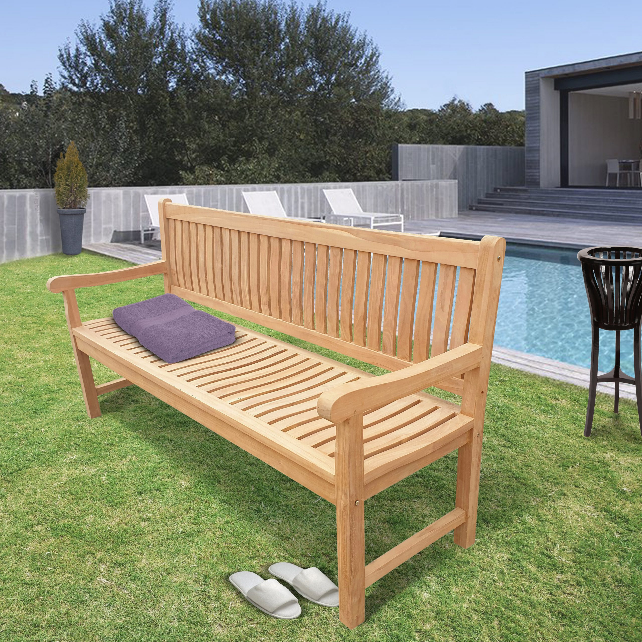Wallie Teak Garden Benches Within Best And Newest Casson Teak Garden Bench (View 7 of 30)