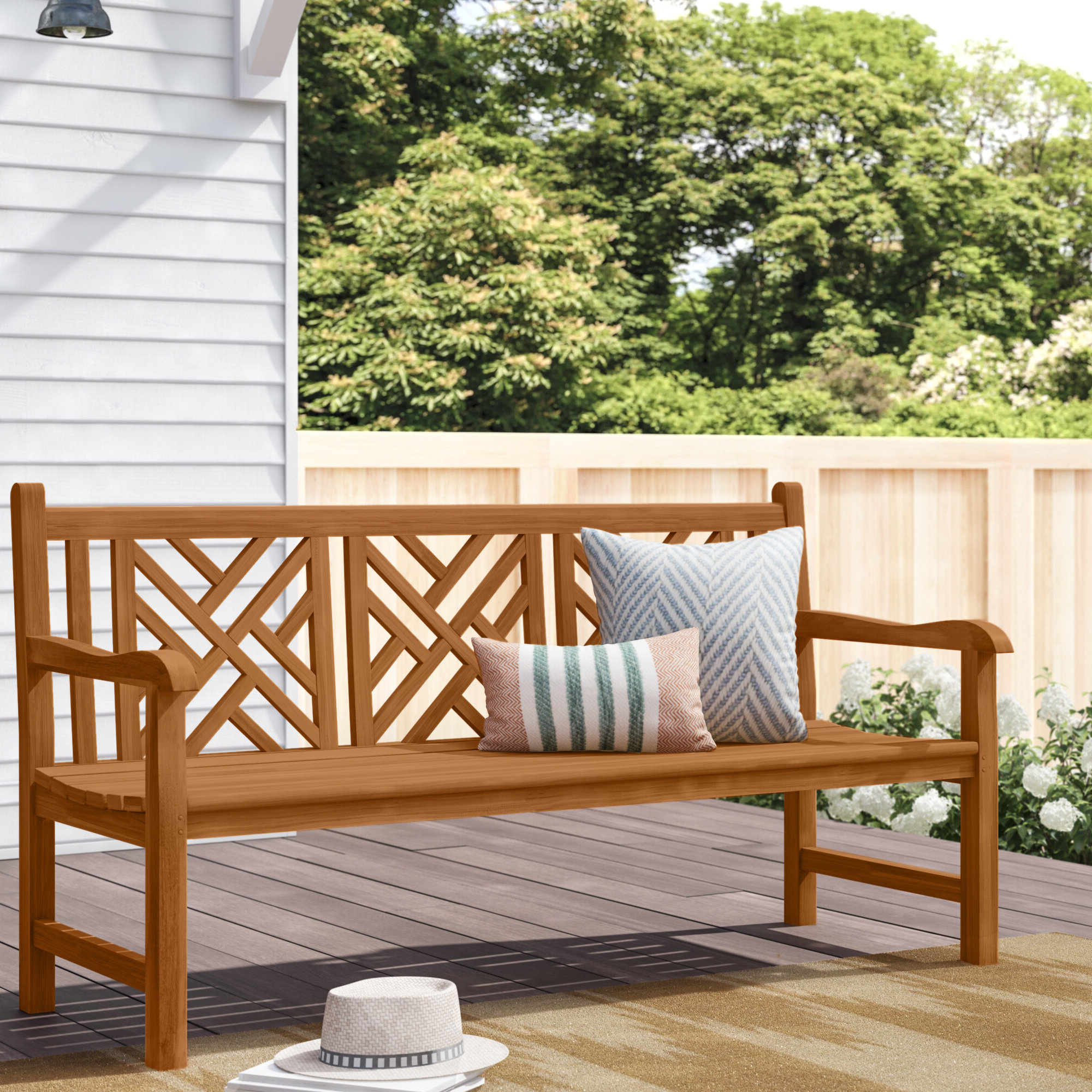 Wayfair In Coleen Outdoor Teak Garden Benches (View 7 of 30)
