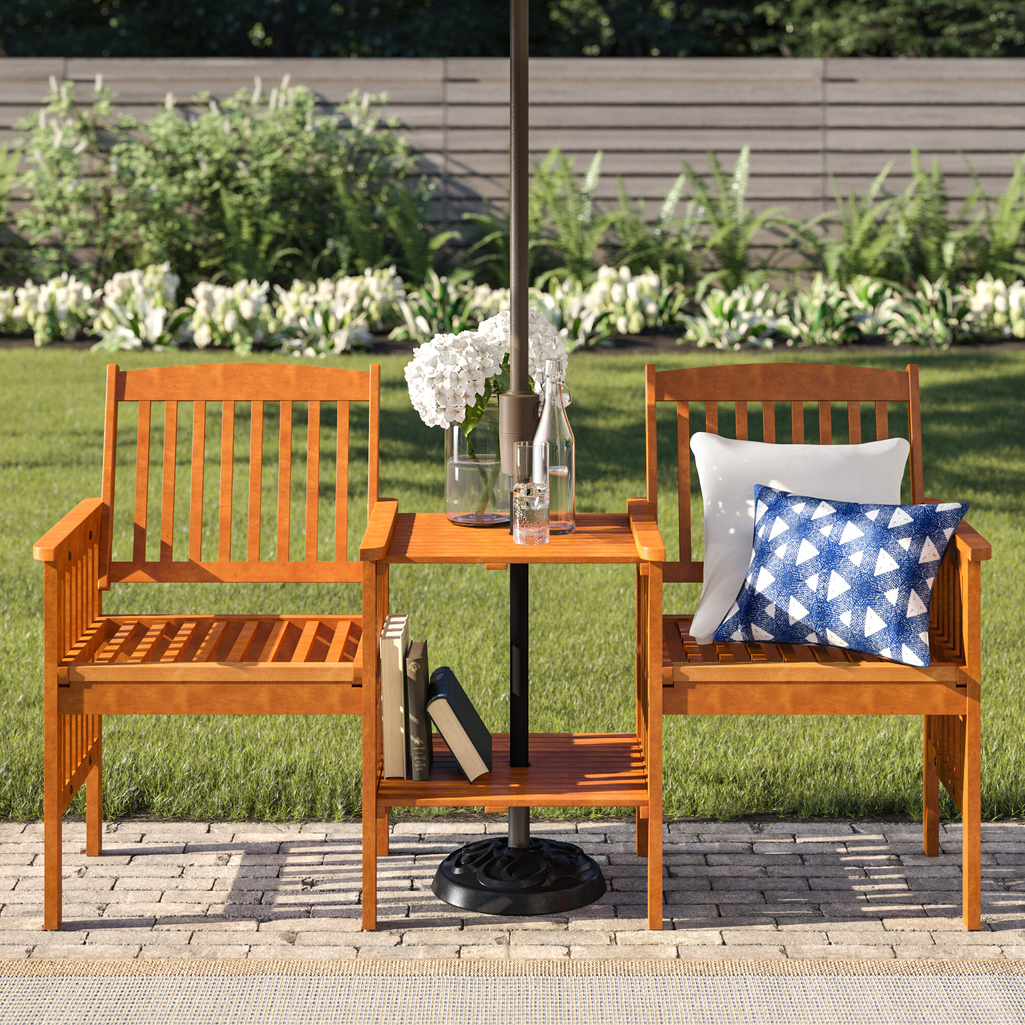 Wayfair In Lublin Wicker Tete A Tete Benches (View 7 of 30)