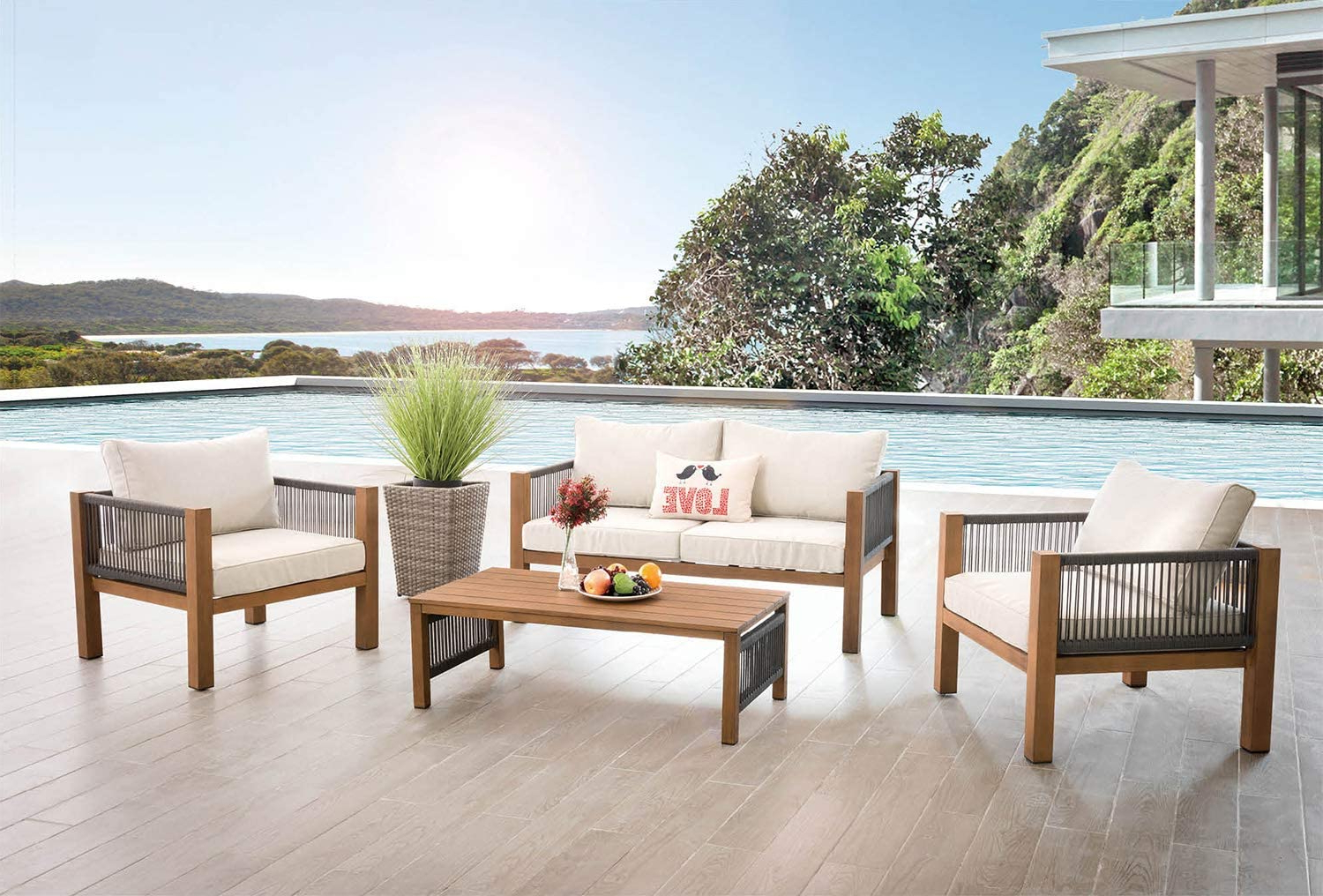 Well Known Aiser Royal Curacao Garden Lounge Set – Luxury Furniture Set For Messina Garden Stools Set (set Of 2) (View 11 of 30)