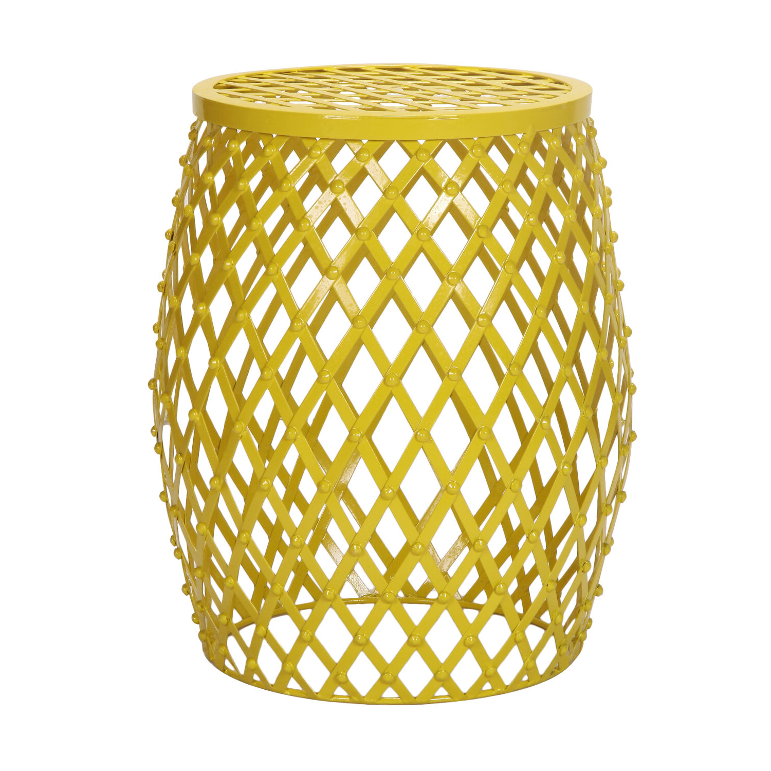 Well Known Amettes Garden Stools With Lourde Home Garden Accent Wire Round Stool (View 26 of 30)