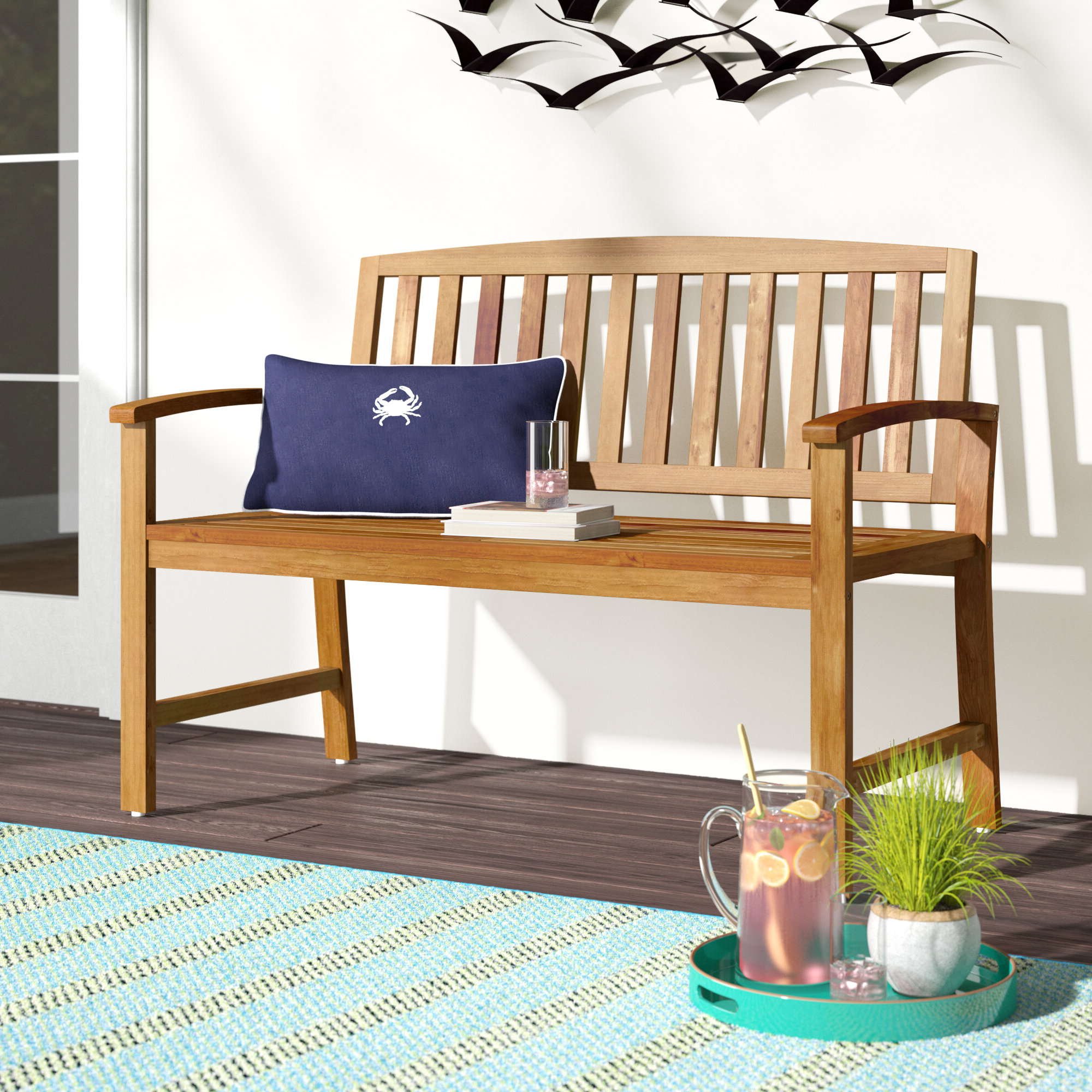 Well Known Beachcrest Home Leora Wooden Garden Bench & Reviews With Regard To Leora Wooden Garden Benches (View 2 of 30)