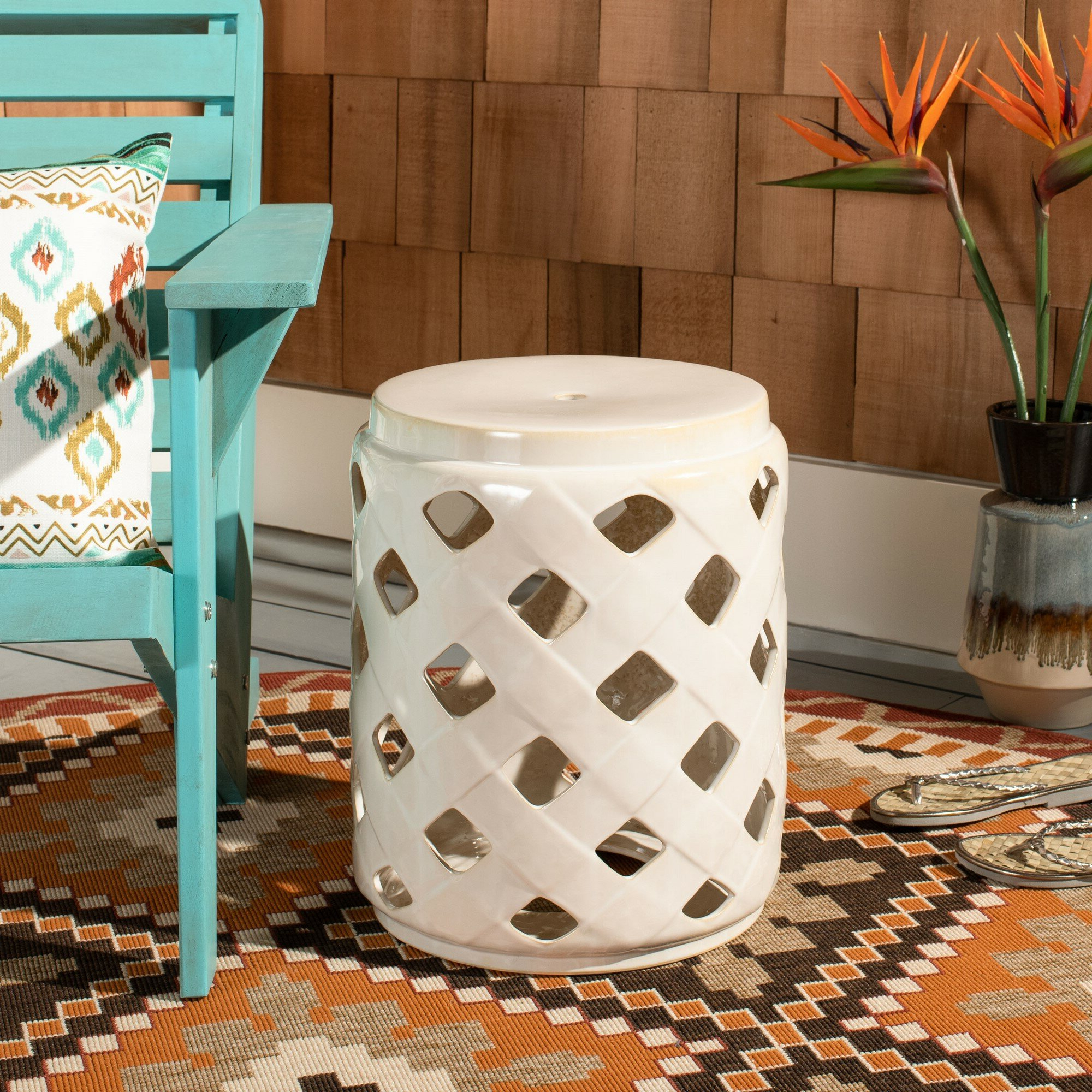 Well Known Caron Ceramic Garden Stool In Amettes Garden Stools (View 29 of 30)
