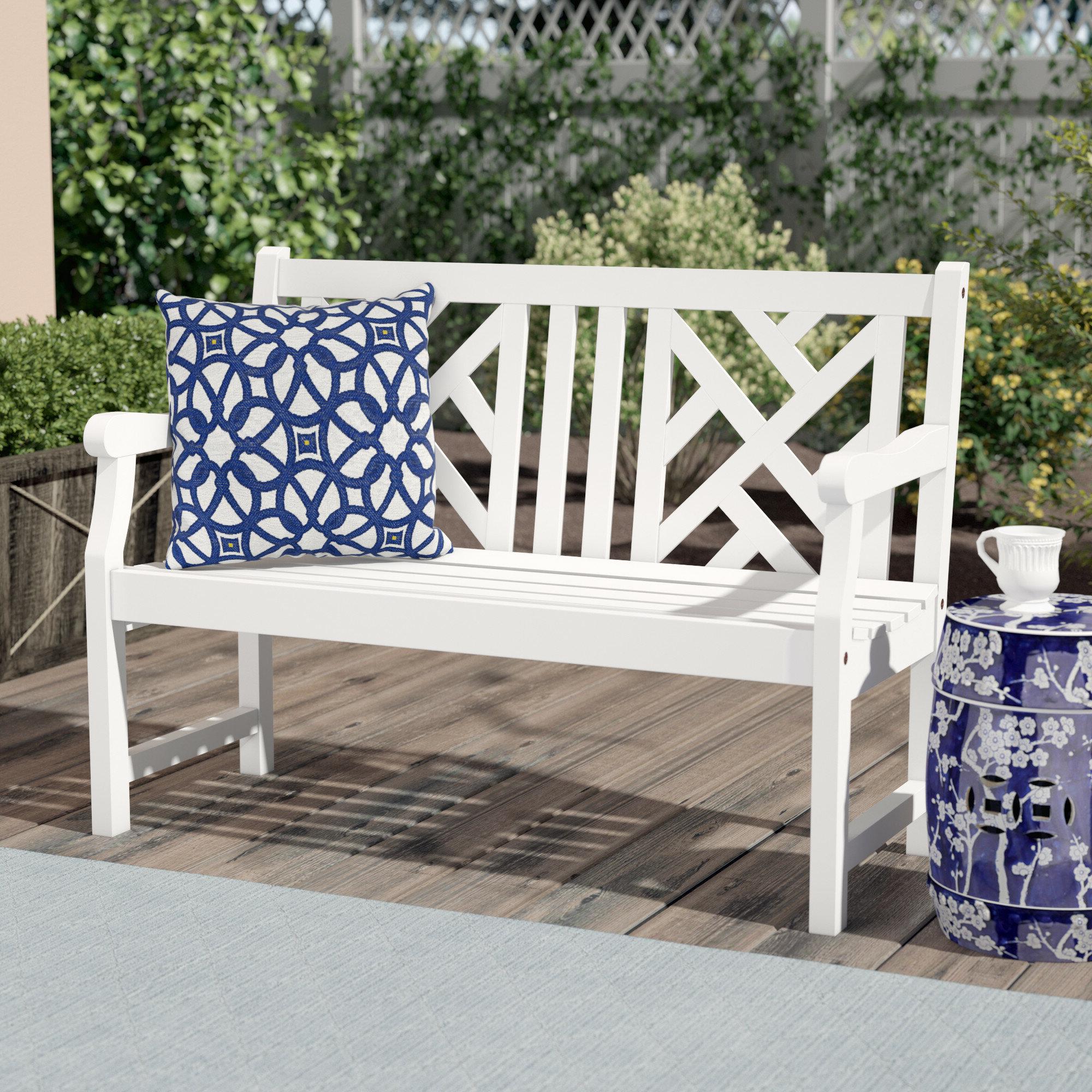 Well Known Cavin Garden Benches For Zephyrine Wooden Garden Bench (View 3 of 30)