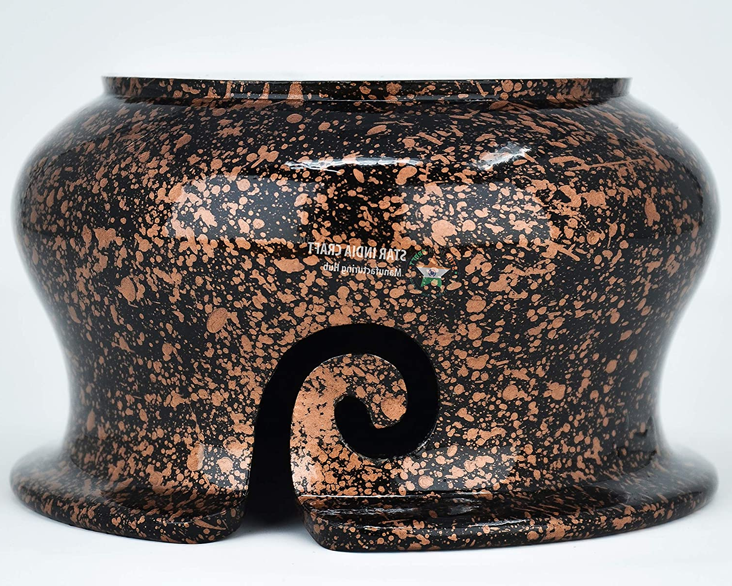 Well Known Handmade Rosewood Yarn Storage Bowl For Knitting With Engelhardt Ceramic Garden Stools (View 27 of 30)