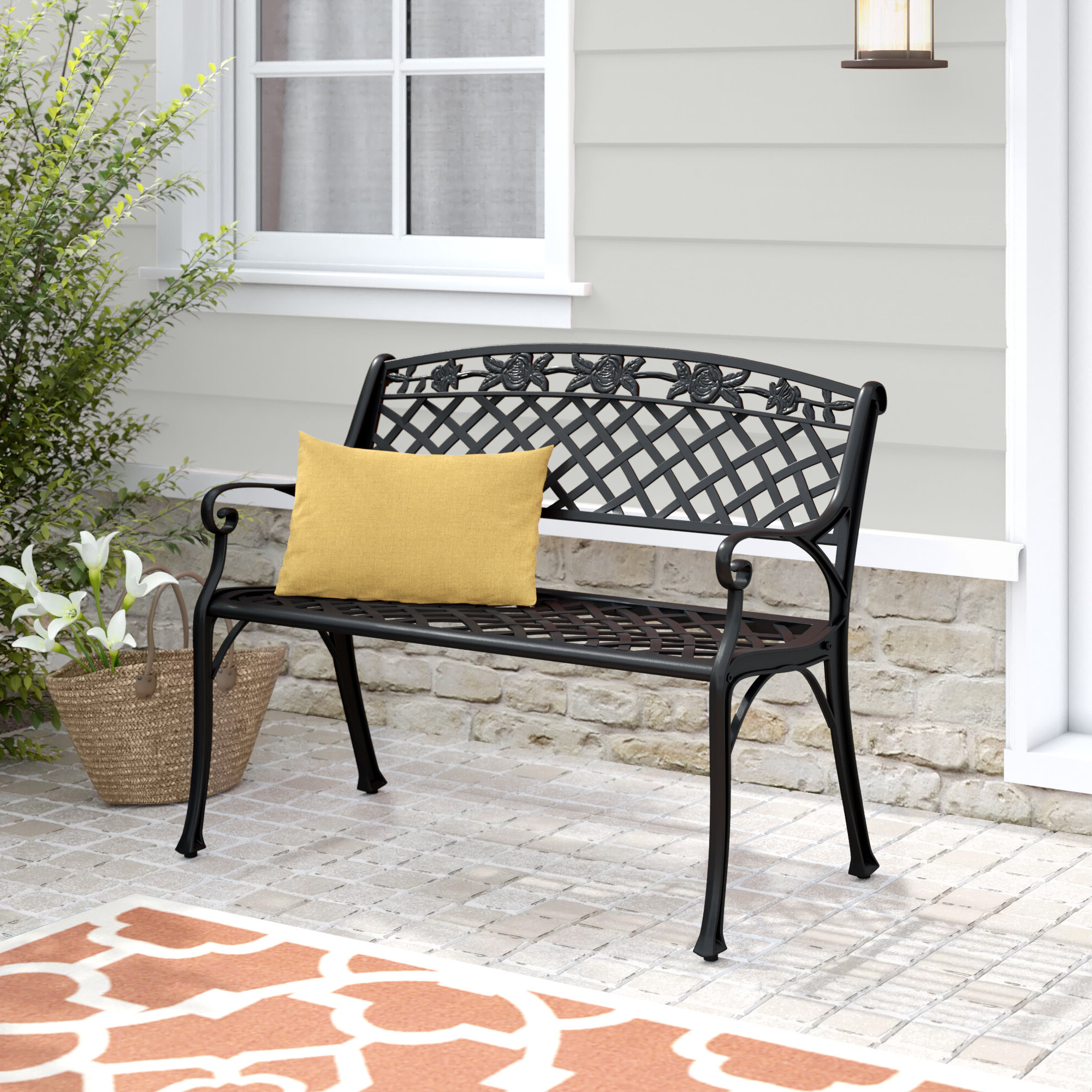 Well Known Hollander Metal Garden Bench For Cavin Garden Benches (View 17 of 30)