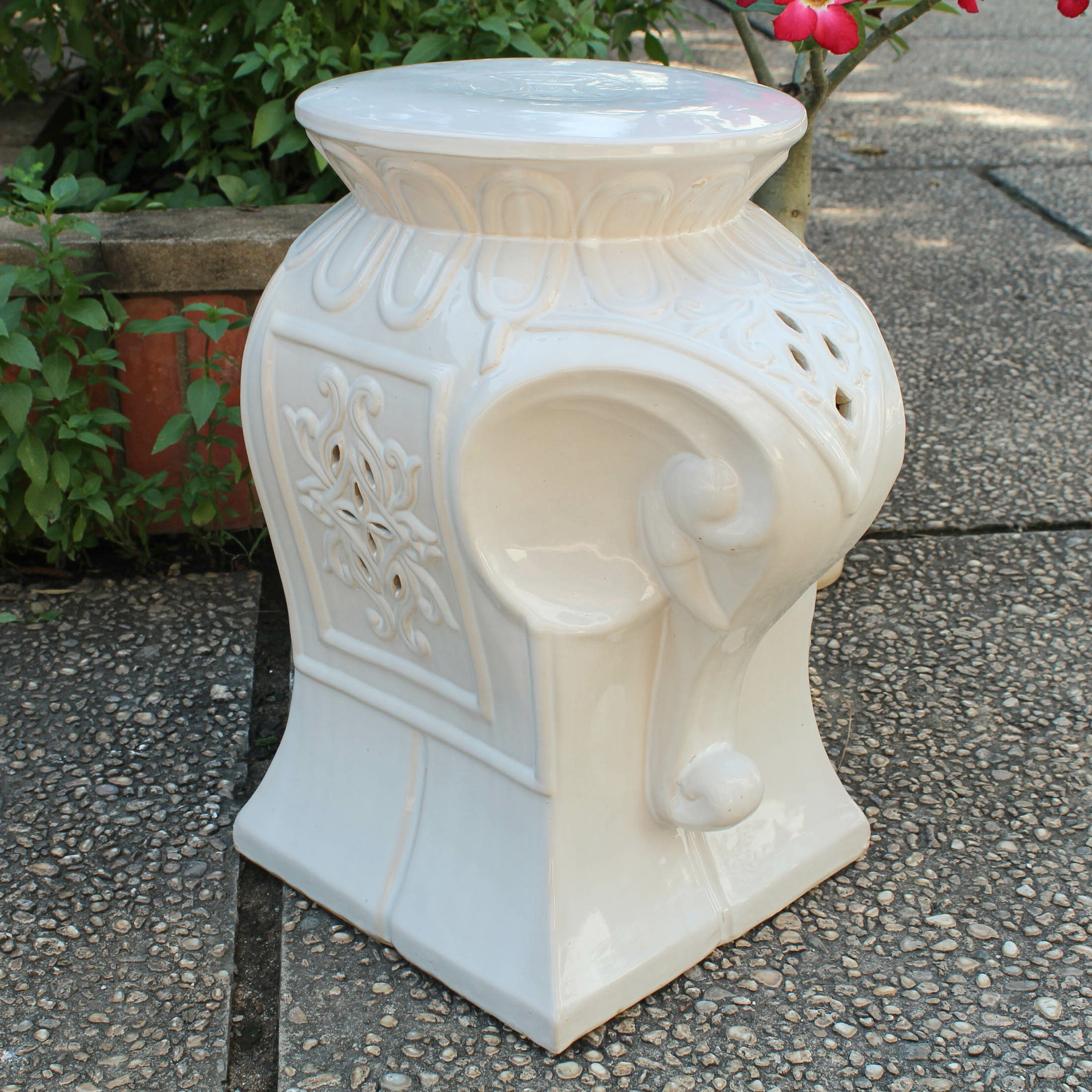 Well Known Karlov Ceramic Garden Stools With Regard To Burleson Elephant Ceramic Garden Stool (View 12 of 30)
