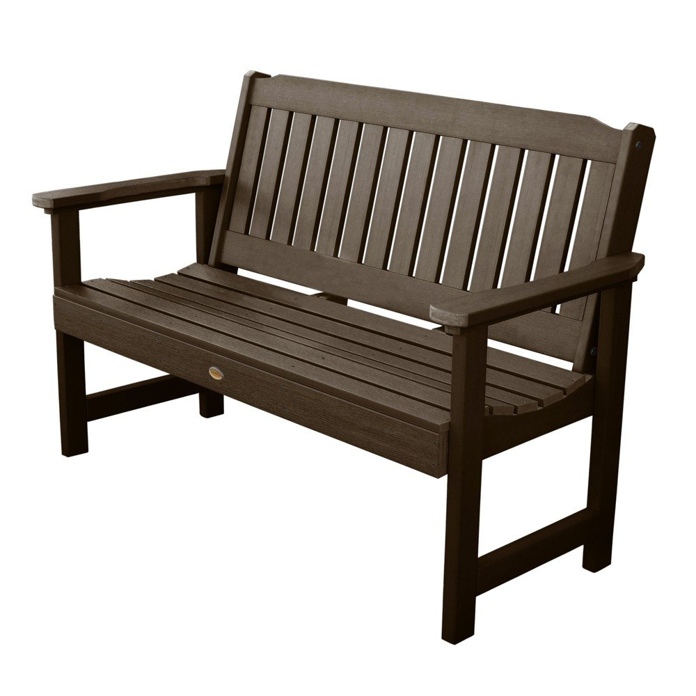 Well Known Lehigh Garden Bench 5ft Weathered Acorn – Highwood – Target Intended For Wallie Teak Garden Benches (View 13 of 30)