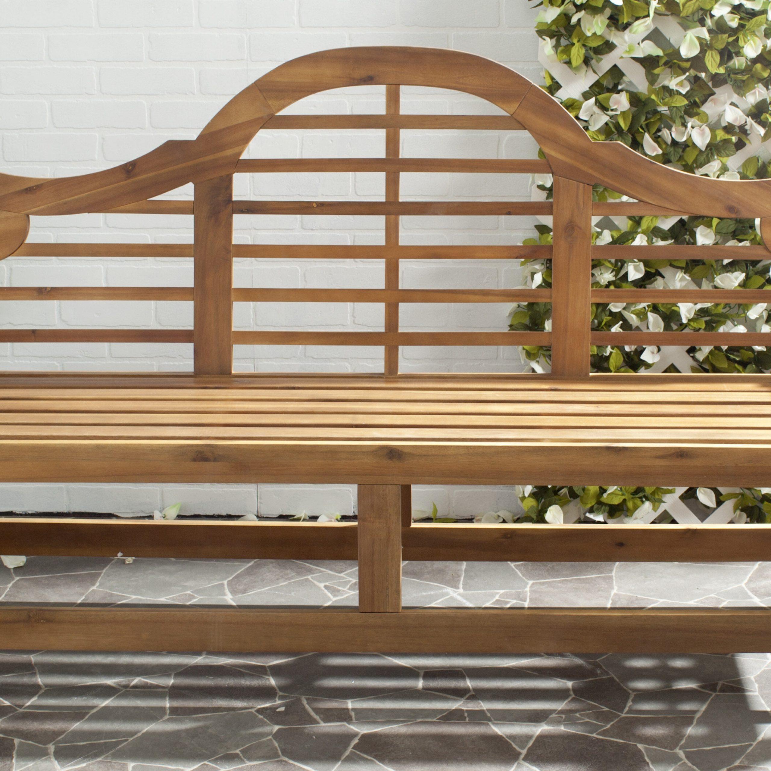 Well Known Leora Wooden Garden Benches Throughout Ziemer Wooden Garden Bench (View 26 of 30)