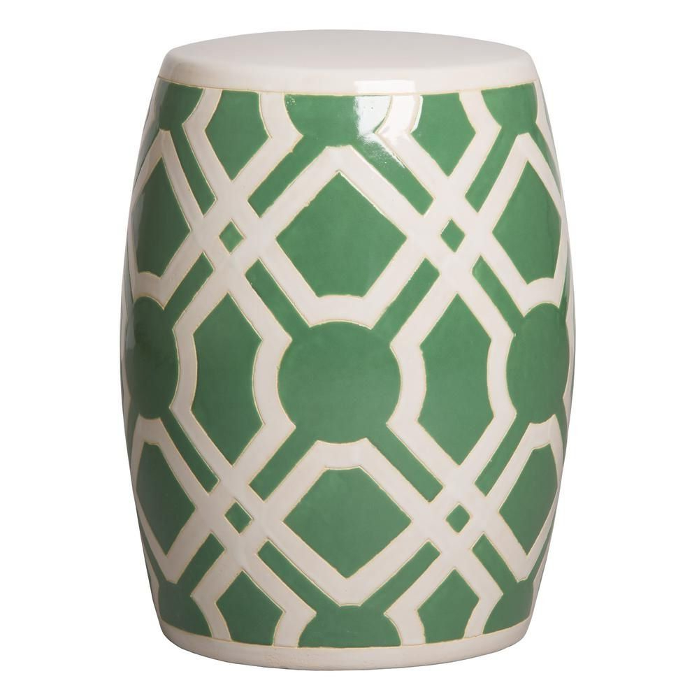 Well Known Maci Tropical Birds Garden Stools Within Emissary Labyrinth White Ceramic Garden Stool 12795wt – The (View 12 of 30)