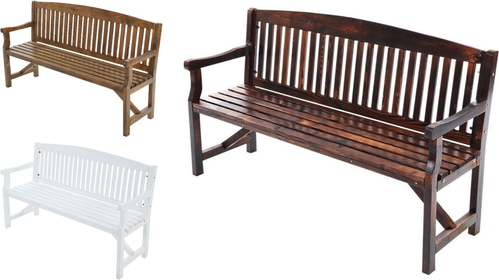 Well Known Manchester Wooden Garden Benches Inside Gardeon 3 Seater Wooden Garden Bench Chair (View 8 of 30)