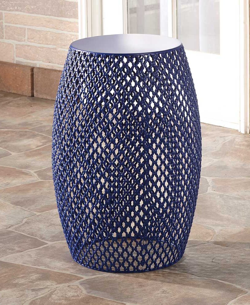 Well Known Metal Lattice Barrel Stools Throughout Holbrook Ceramic Garden Stools (View 22 of 30)