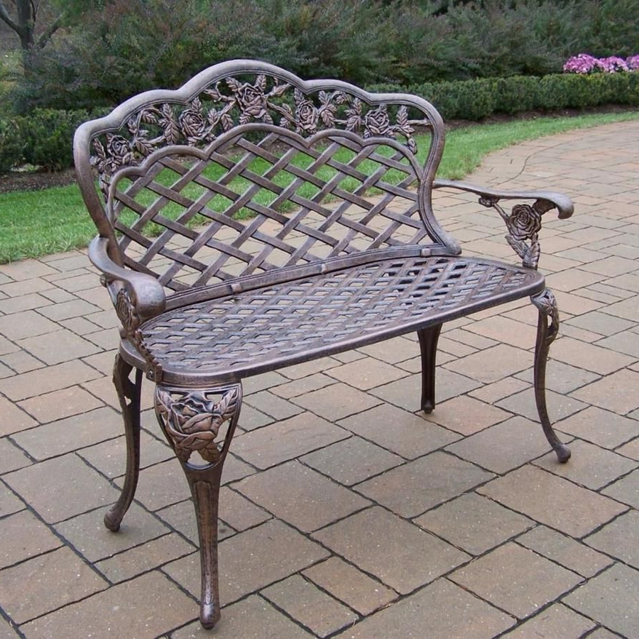 Well Known Pin On Benches Pertaining To Montezuma Cast Aluminum Garden Benches (View 13 of 30)