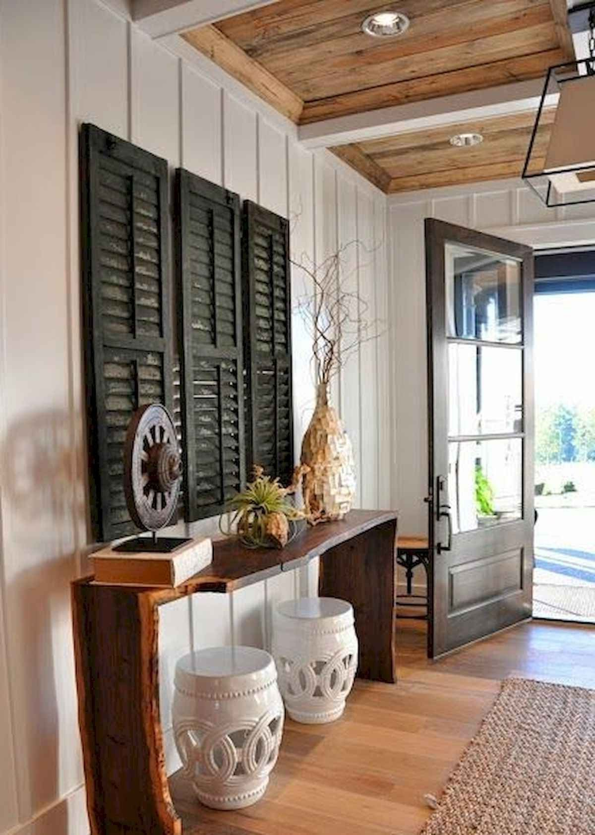 Well Known Svendsen Ceramic Garden Stools With Regard To 50 Stunning Farmhouse Entryway Design Ideas In (View 19 of 30)