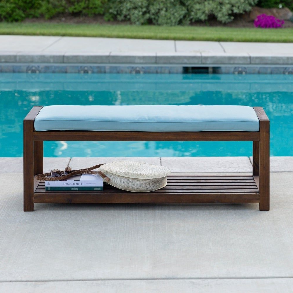Well Known Tybee 48 Inch Dark Brown Outdoor Bench Within Ossu Iron Picnic Benches (View 26 of 30)
