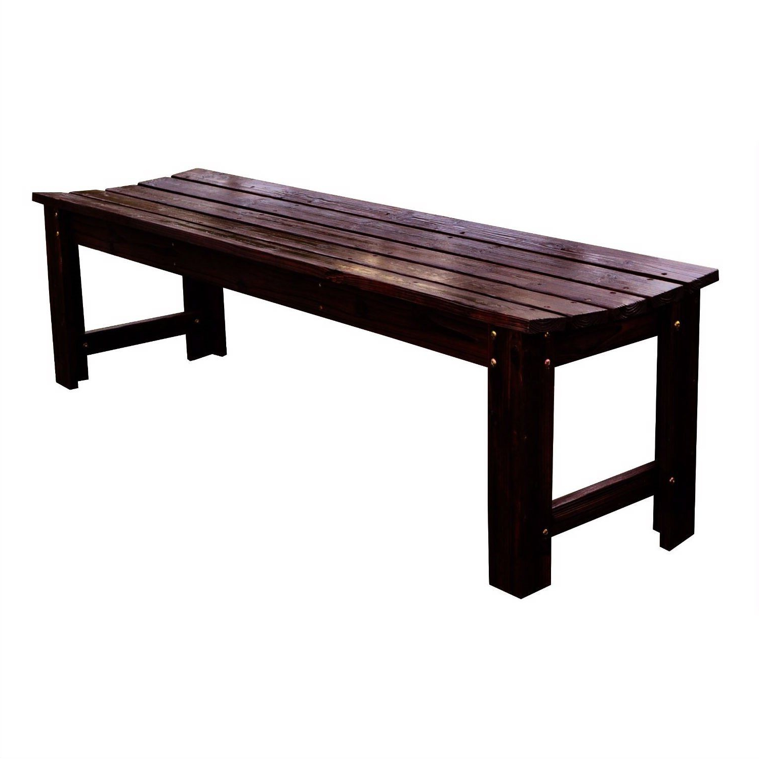 Well Liked 5 Feet Backless Outdoor Garden Patio Cedar Wood Bench In For Shelbie Wooden Garden Benches (View 29 of 30)