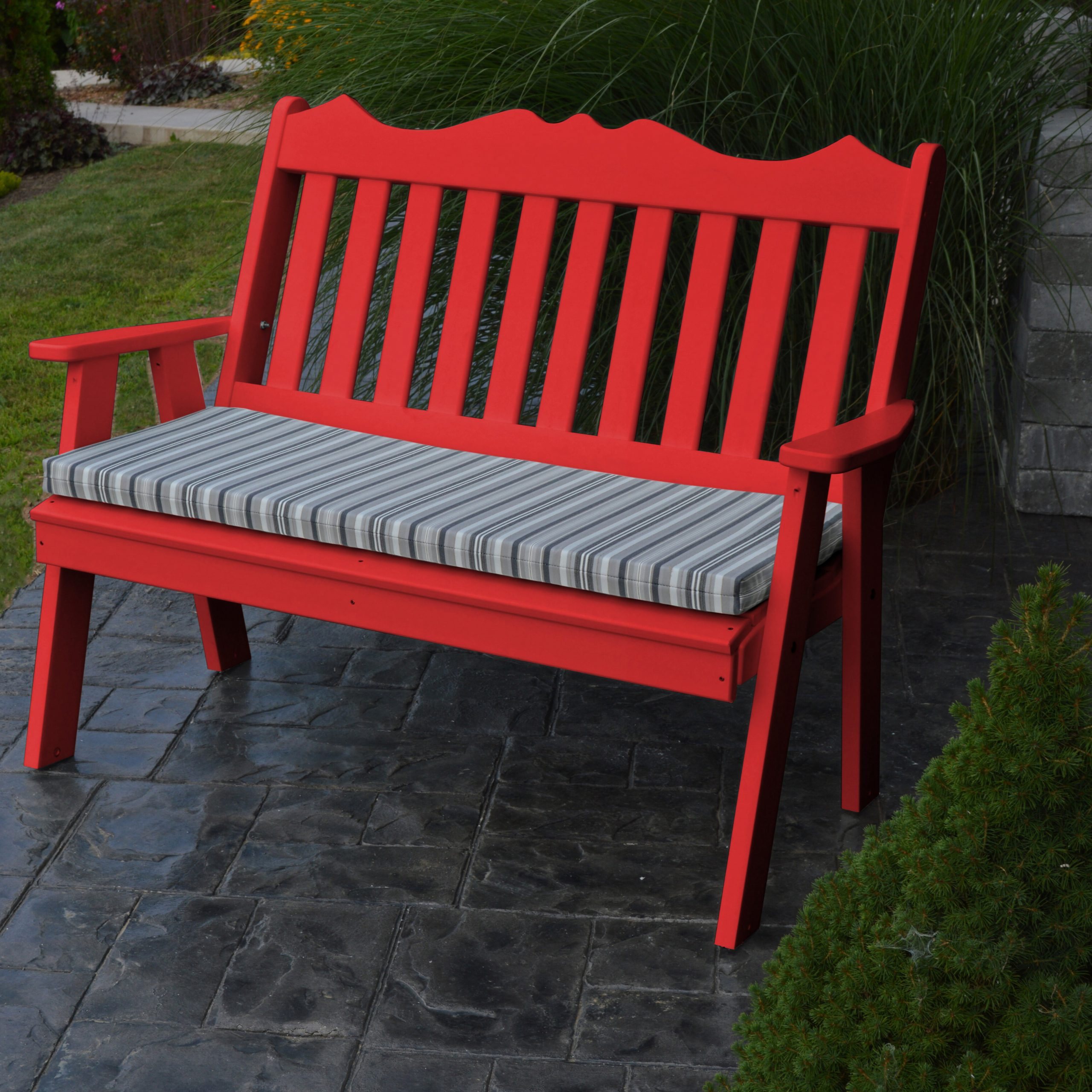 Well Liked Gehlert Traditional Patio Iron Garden Benches Regarding Hemby Plastic Garden Bench (View 28 of 30)