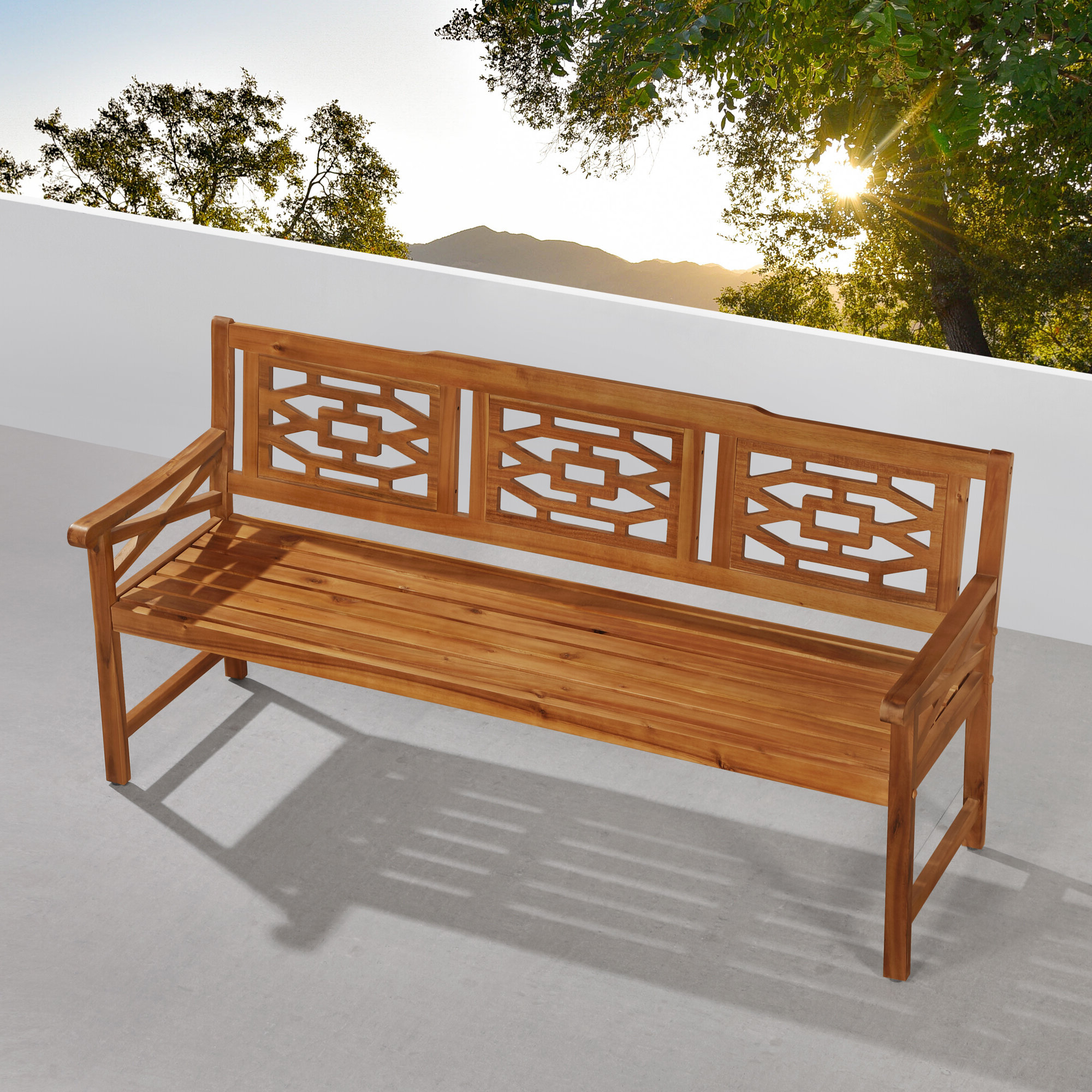 Well Liked Harpersfield Wooden Garden Benches With Malay Wooden Garden Bench (View 18 of 30)