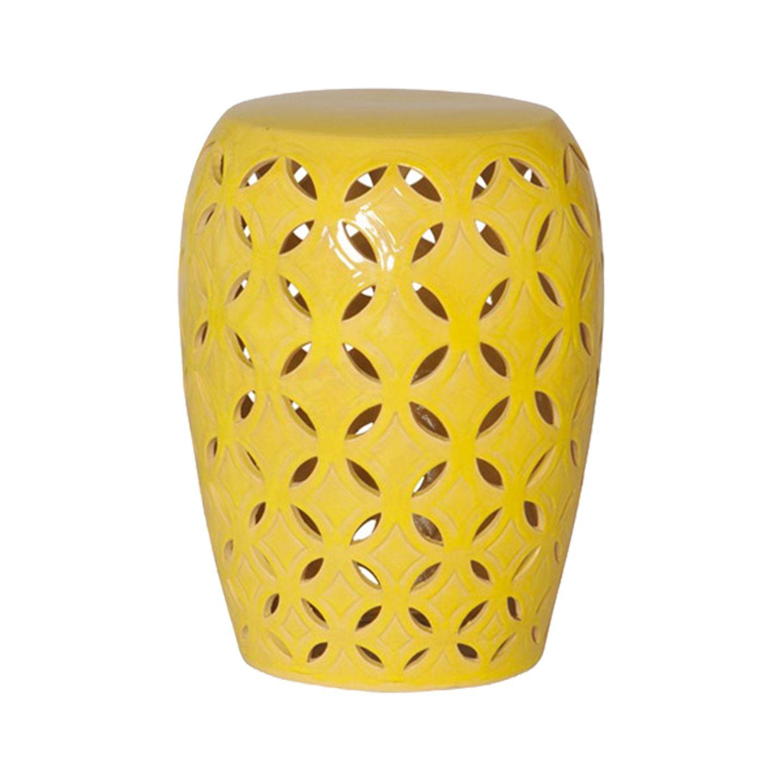 Well Liked Jadiel Ceramic Garden Stools Inside Yellow Ceramic Patio Stool (View 25 of 30)