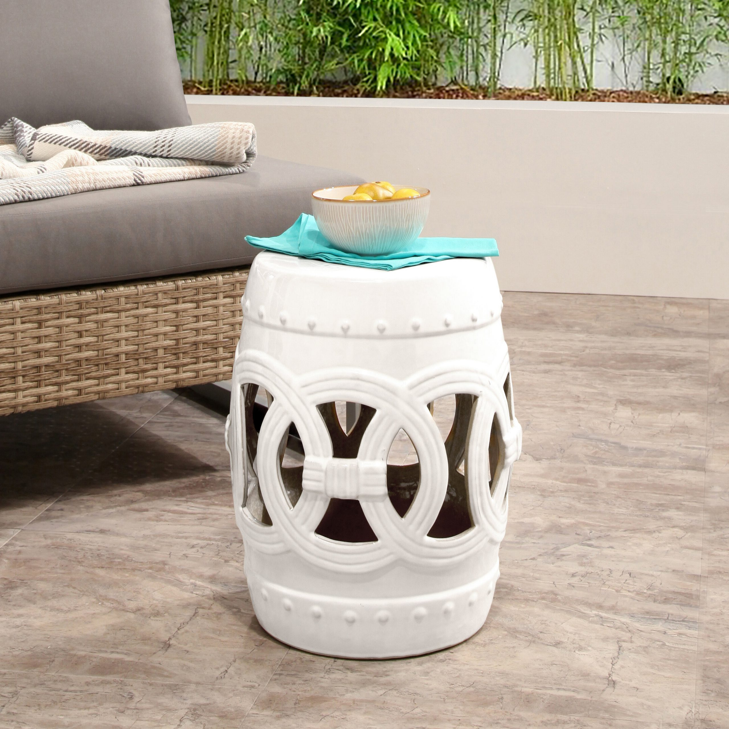 Well Liked Karlov Ceramic Garden Stools Throughout Mistana Holbeach Ceramic Garden Stool (View 25 of 30)