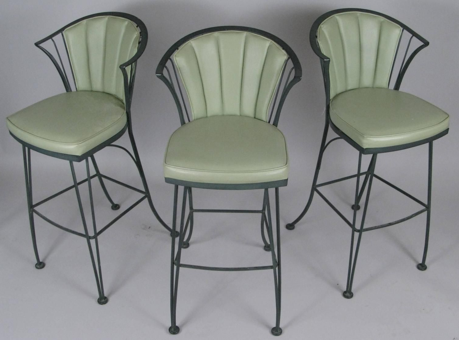 Well Liked Set Of Three 1950's Woodard Pinecrest Bar Stools In 2020 With Standwood Metal Garden Stools (View 26 of 30)