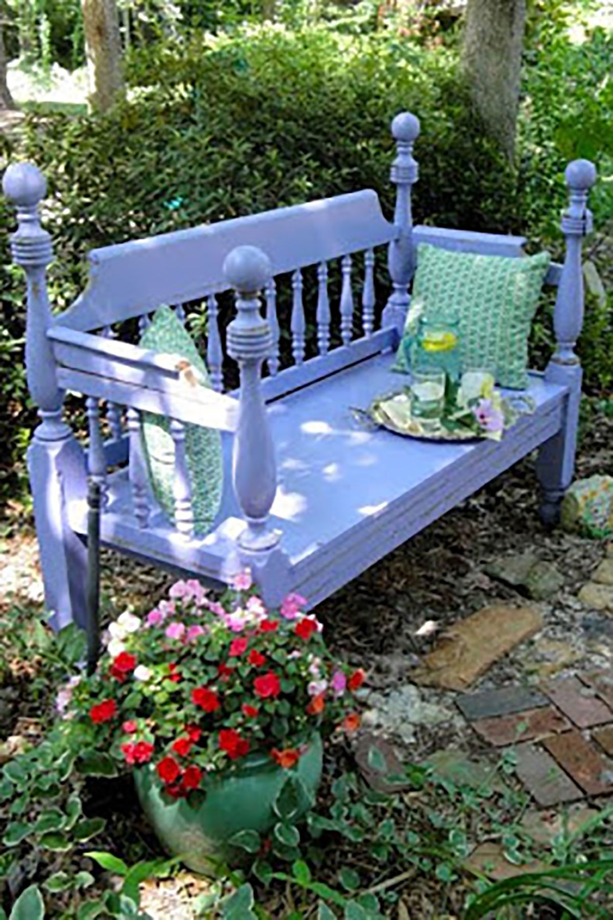 Well Liked Tree Of Life Iron Garden Benches In 22 Diy Garden Bench Ideas – Free Plans For Outdoor Benches (View 30 of 30)
