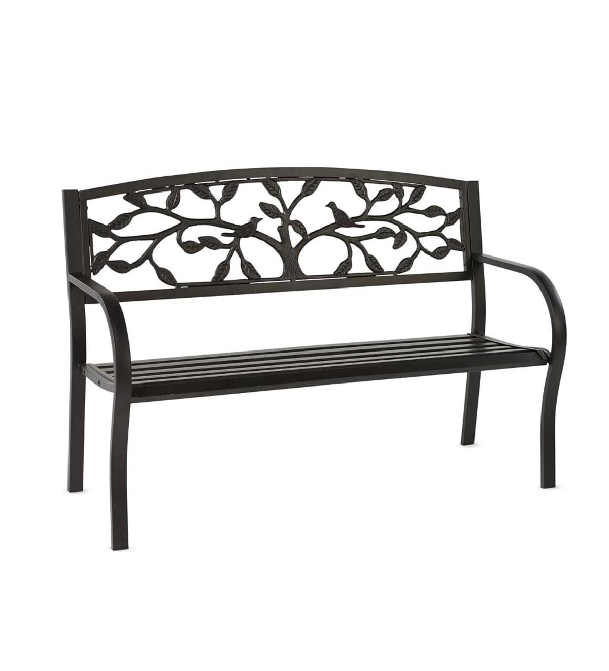 Well Liked Tree Of Life Metal Garden Bench For Blooming Iron Garden Benches (View 22 of 30)