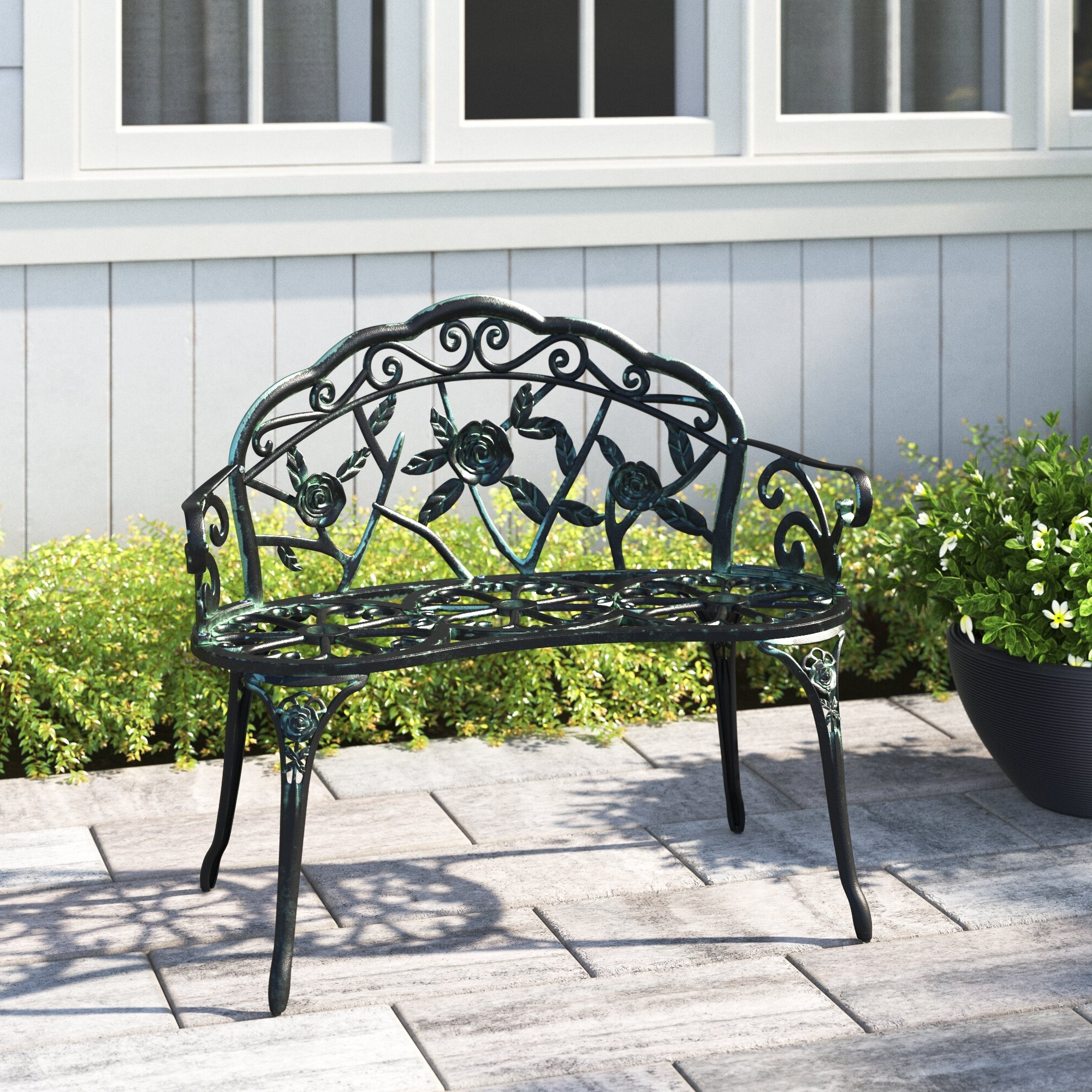Wendy Metal Garden Bench Inside Best And Newest Caryn Colored Butterflies Metal Garden Benches (View 5 of 30)