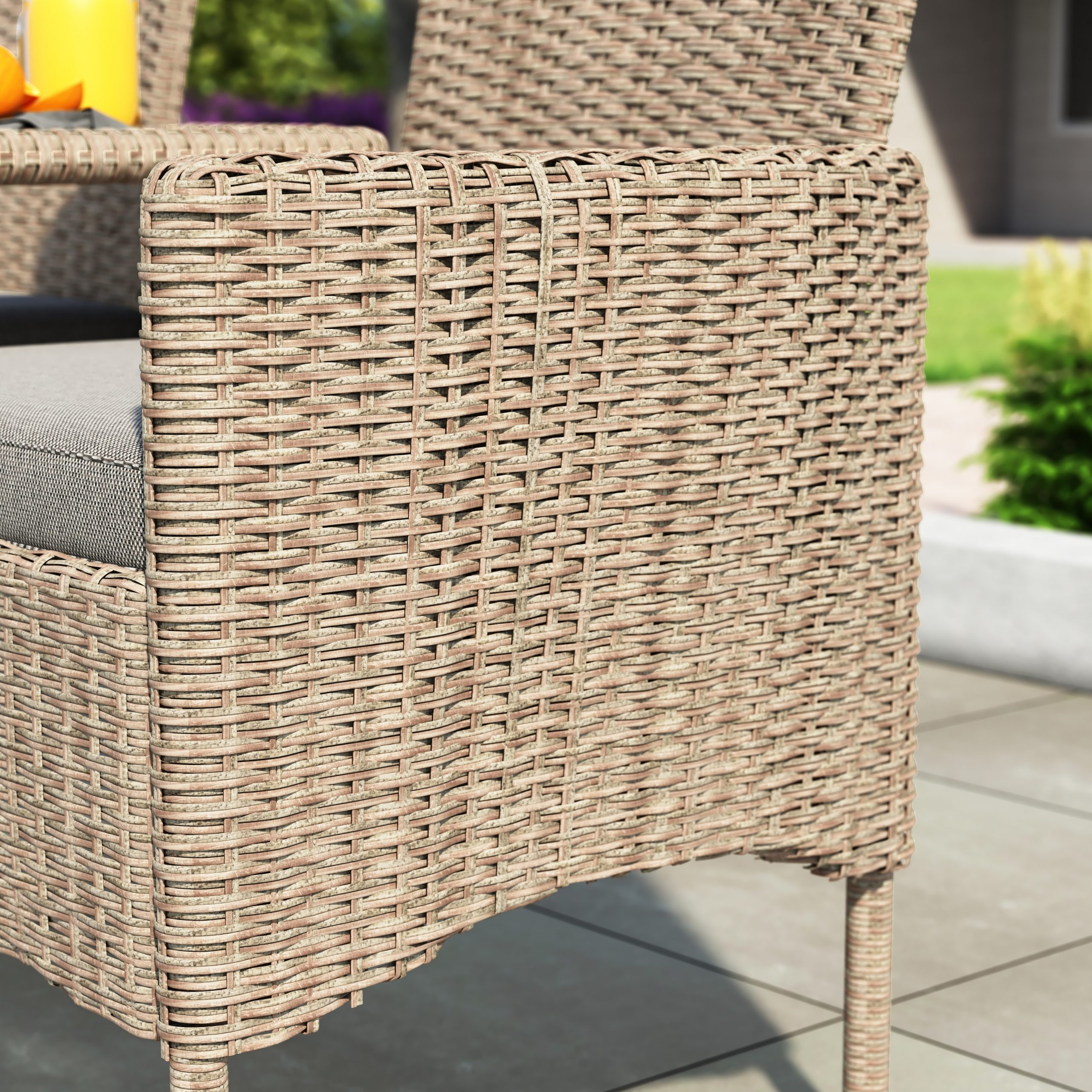 Wicker Tete A Tete Benches For Widely Used Corvus Armitage Outdoor Wicker Tete A Tete Bench (View 9 of 30)