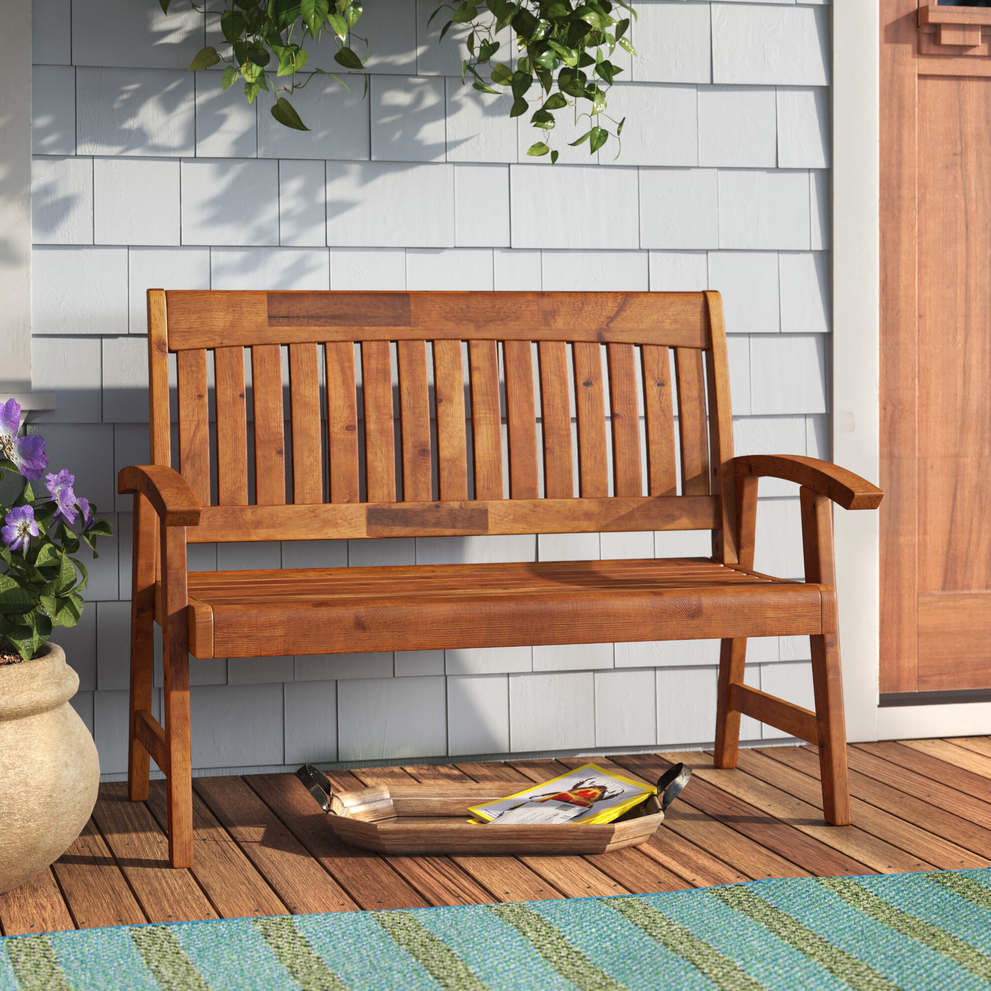 Widely Used Gabbert Wooden Garden Benches With Gabbert Wooden Garden Bench (View 2 of 30)